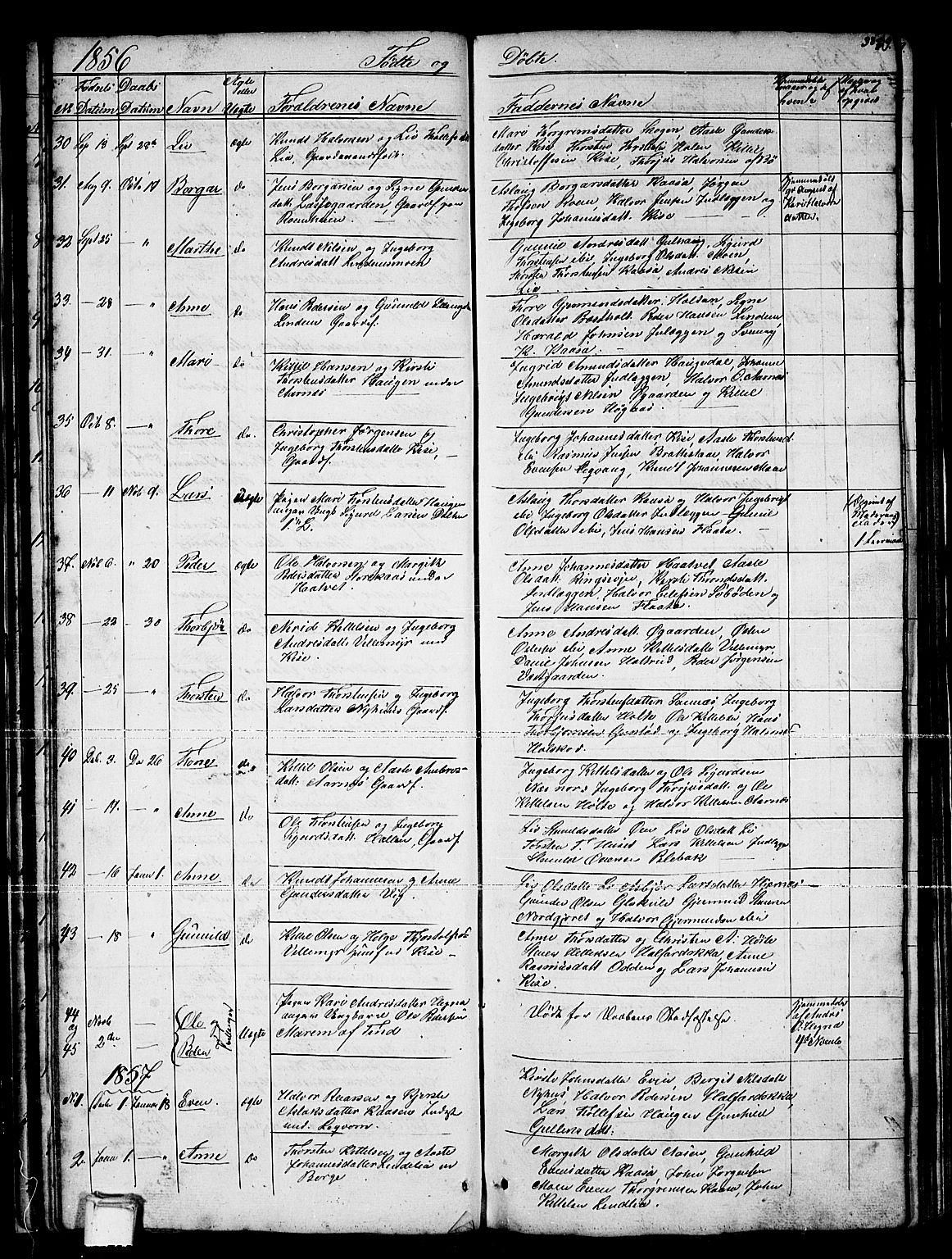 SAKO, Sauherad kirkebøker, G/Gb/L0001: Klokkerbok nr. II 1, 1845-1865, s. 38