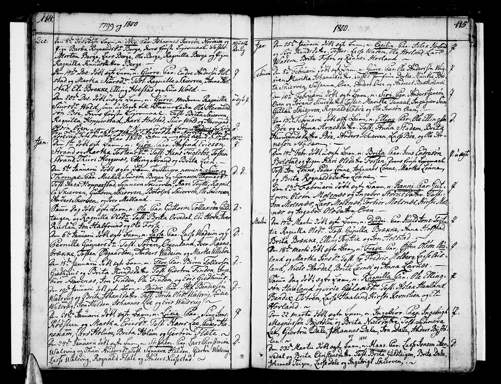 SAB, Vik Sokneprestembete, Ministerialbok nr. A 5, 1787-1820, s. 114-115