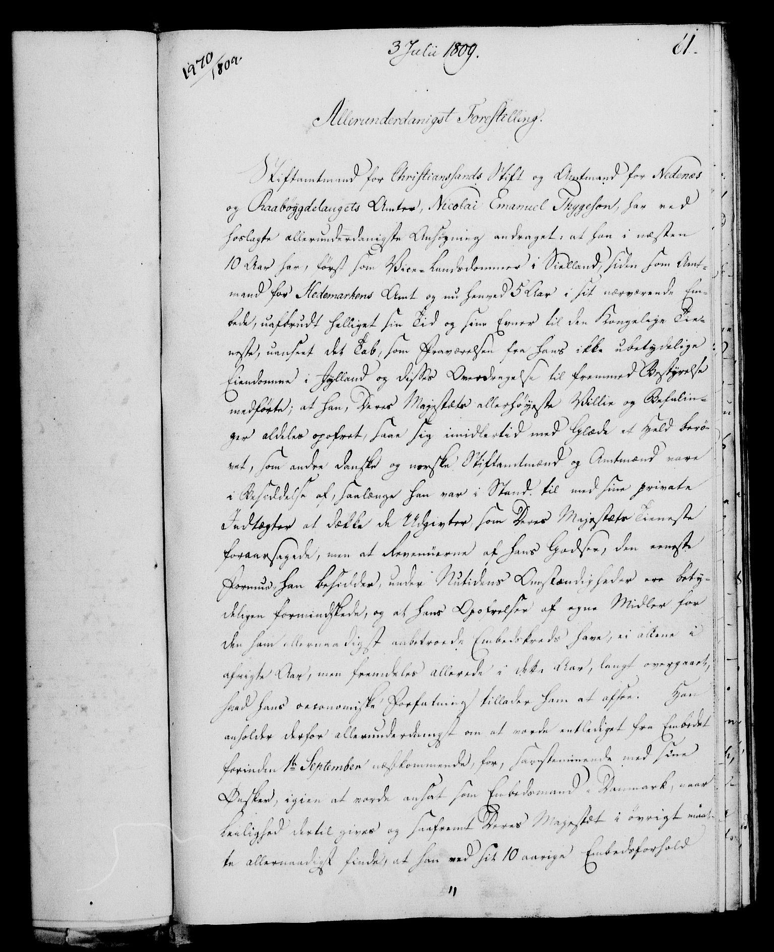 RA, Rentekammeret, Kammerkanselliet, G/Gf/Gfa/L0091: Norsk relasjons- og resolusjonsprotokoll (merket RK 52.91), 1809, s. 253