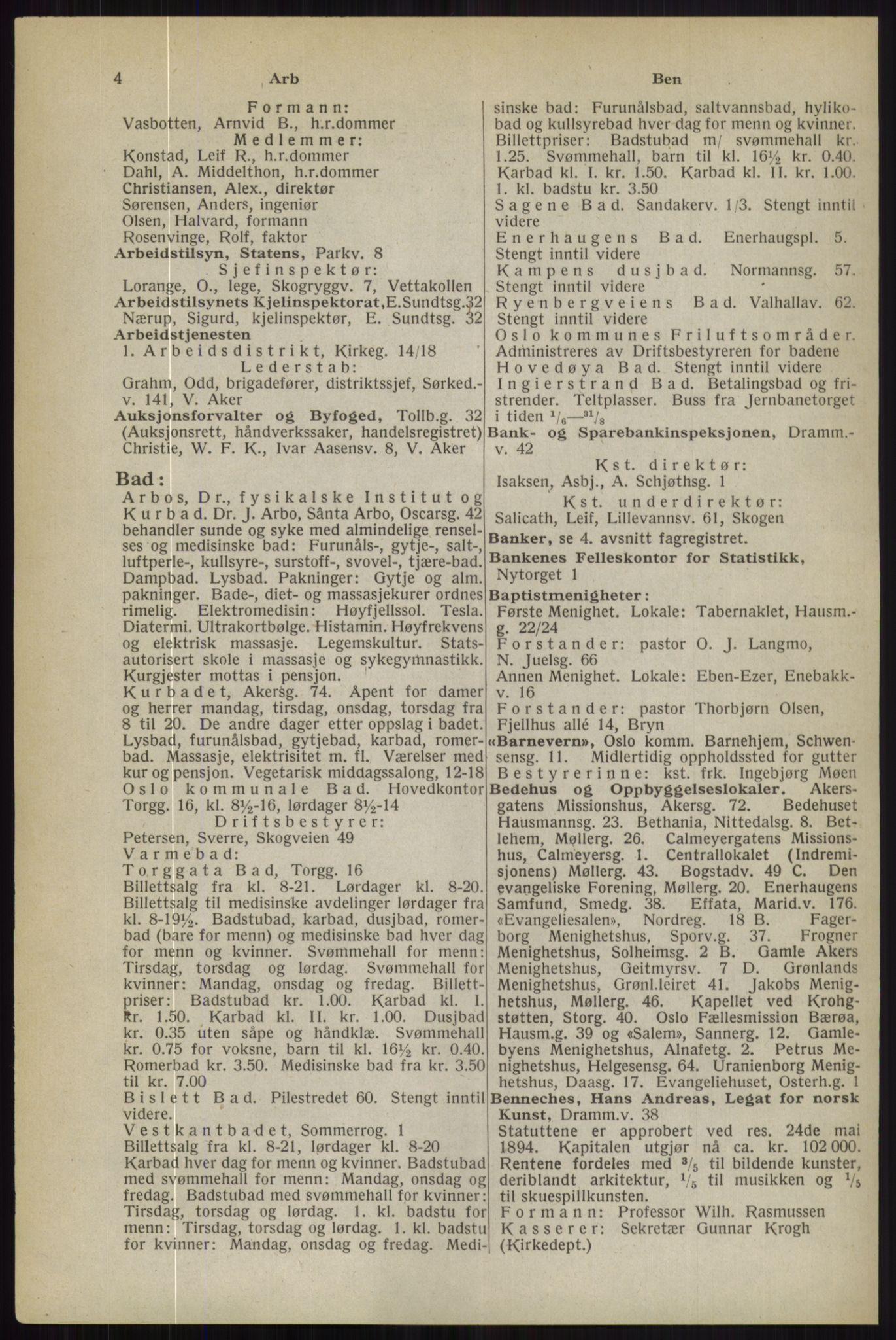 RA, Oslo adressebok (publikasjon)*, 1944, s. 4