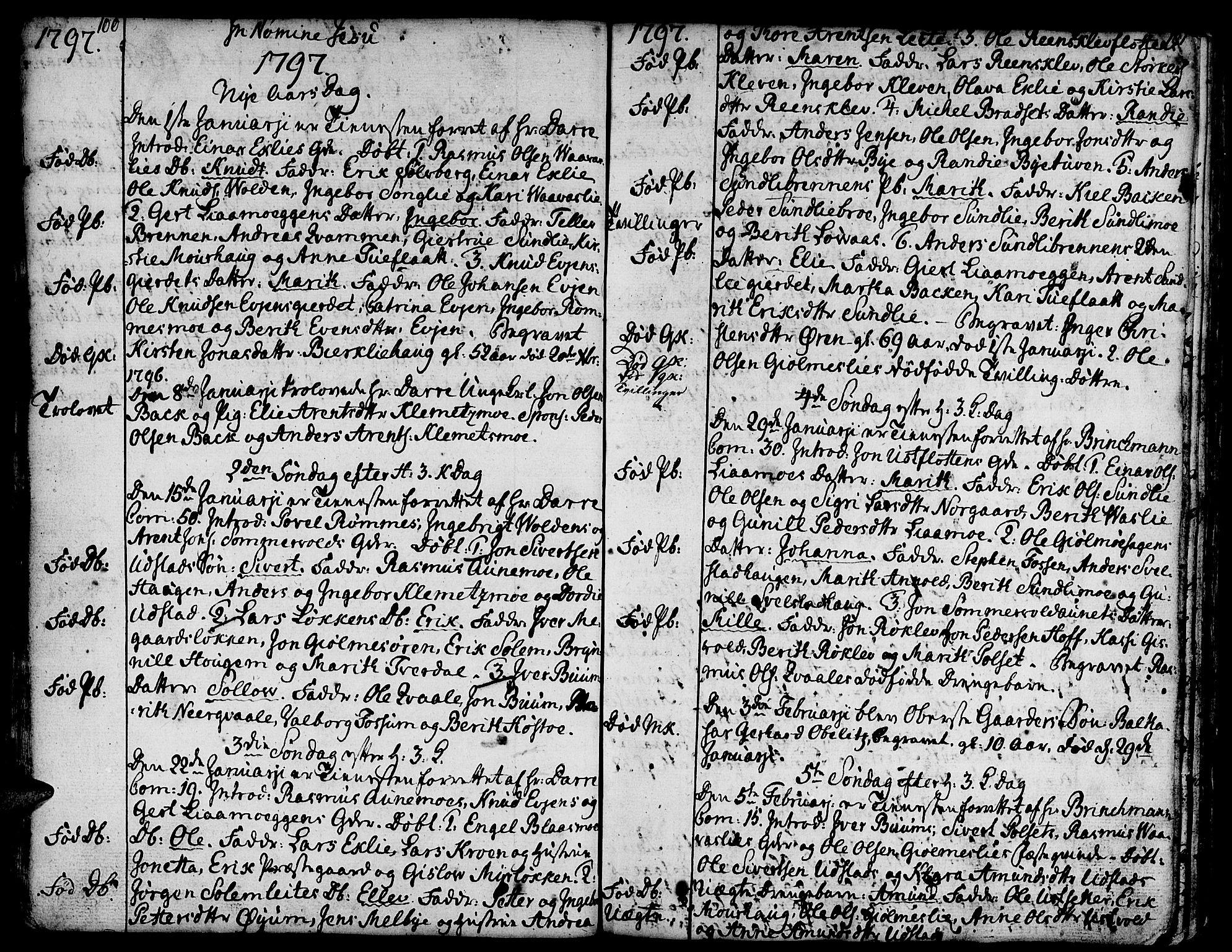 SAT, Ministerialprotokoller, klokkerbøker og fødselsregistre - Sør-Trøndelag, 668/L0815: Klokkerbok nr. 668C04, 1791-1815, s. 100-101