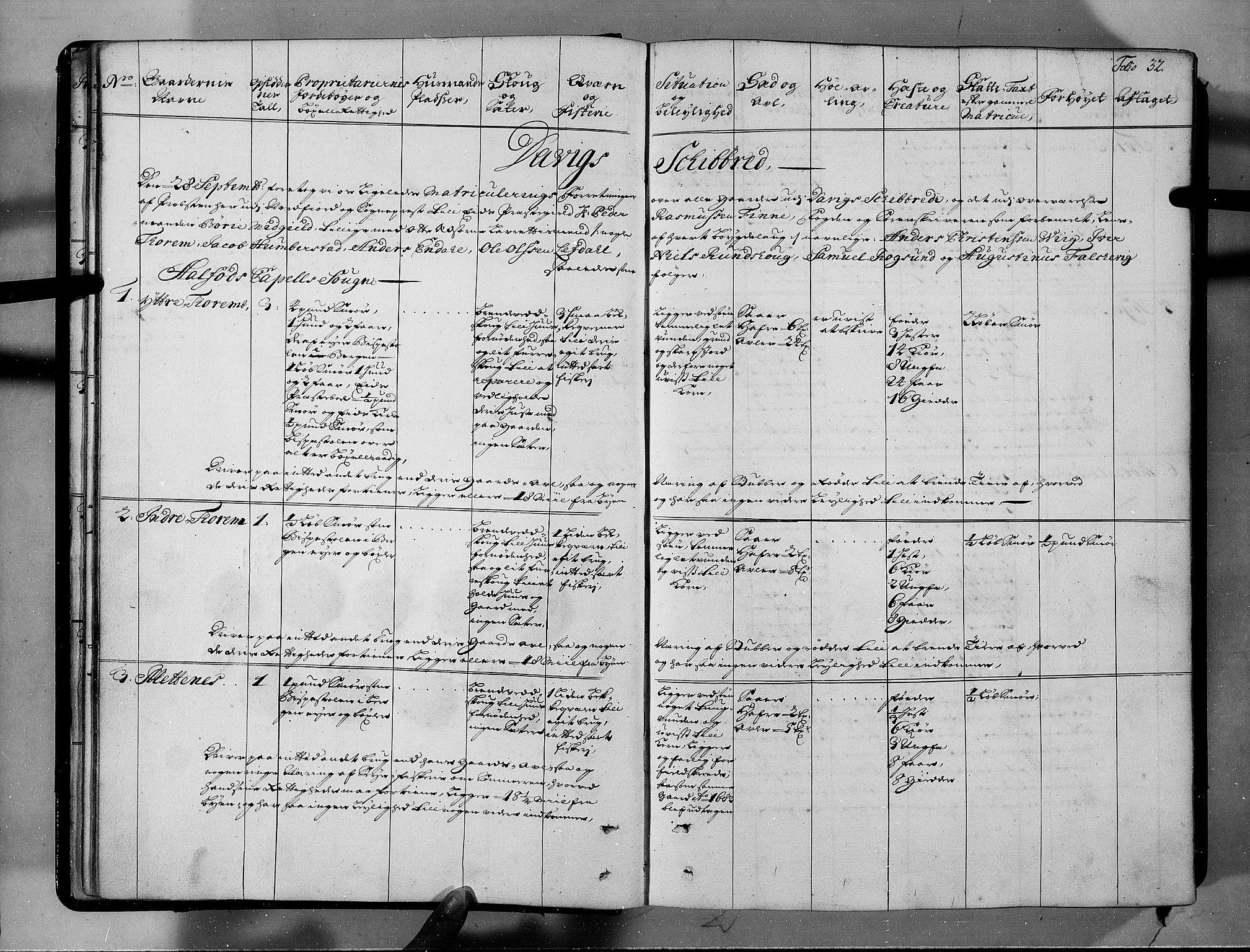 RA, Rentekammeret inntil 1814, Realistisk ordnet avdeling, N/Nb/Nbf/L0146: Sunnfjord og Nordfjord eksaminasjonsprotokoll, 1723, s. 31b-32a