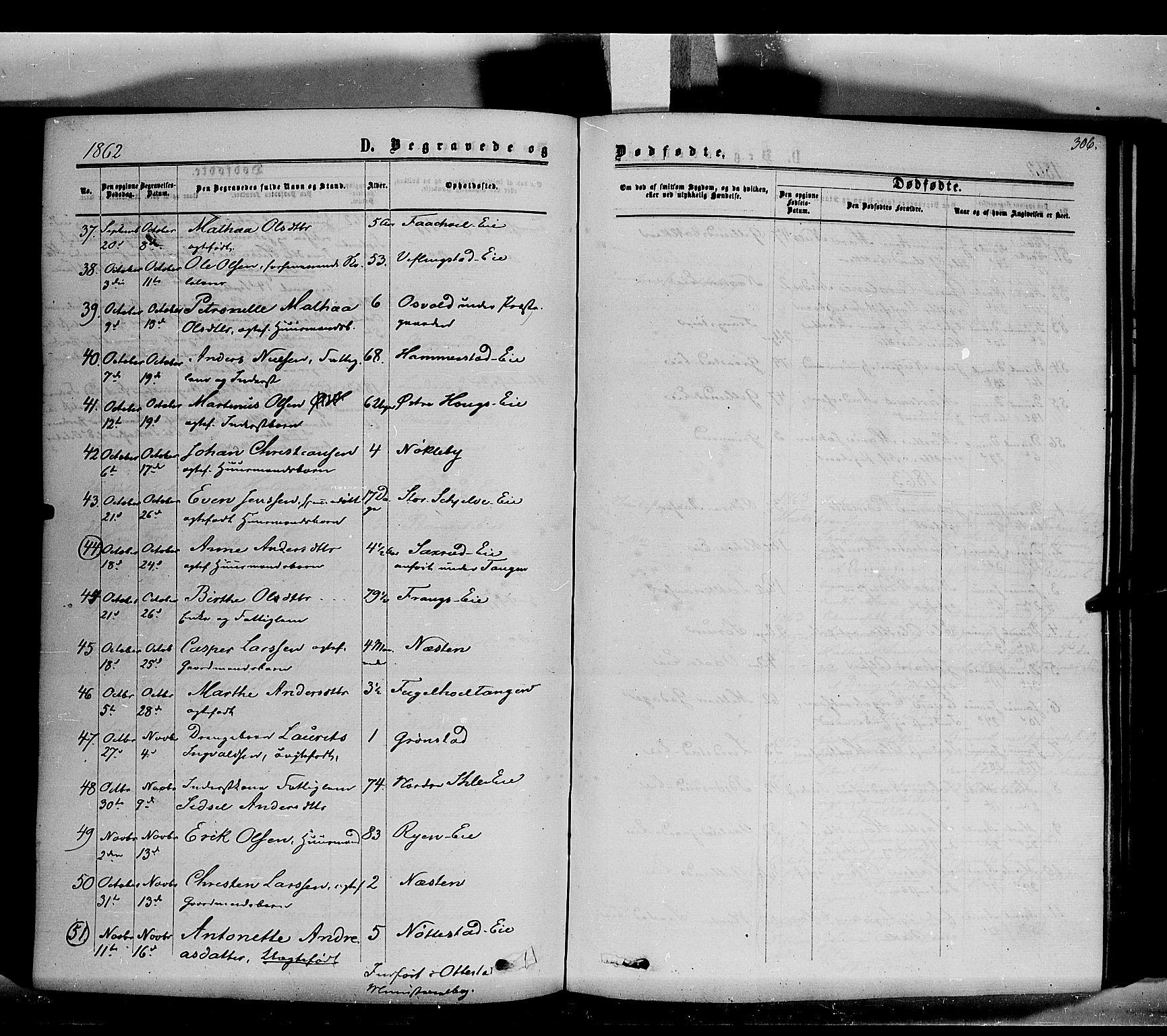 SAH, Stange prestekontor, K/L0013: Ministerialbok nr. 13, 1862-1879, s. 306