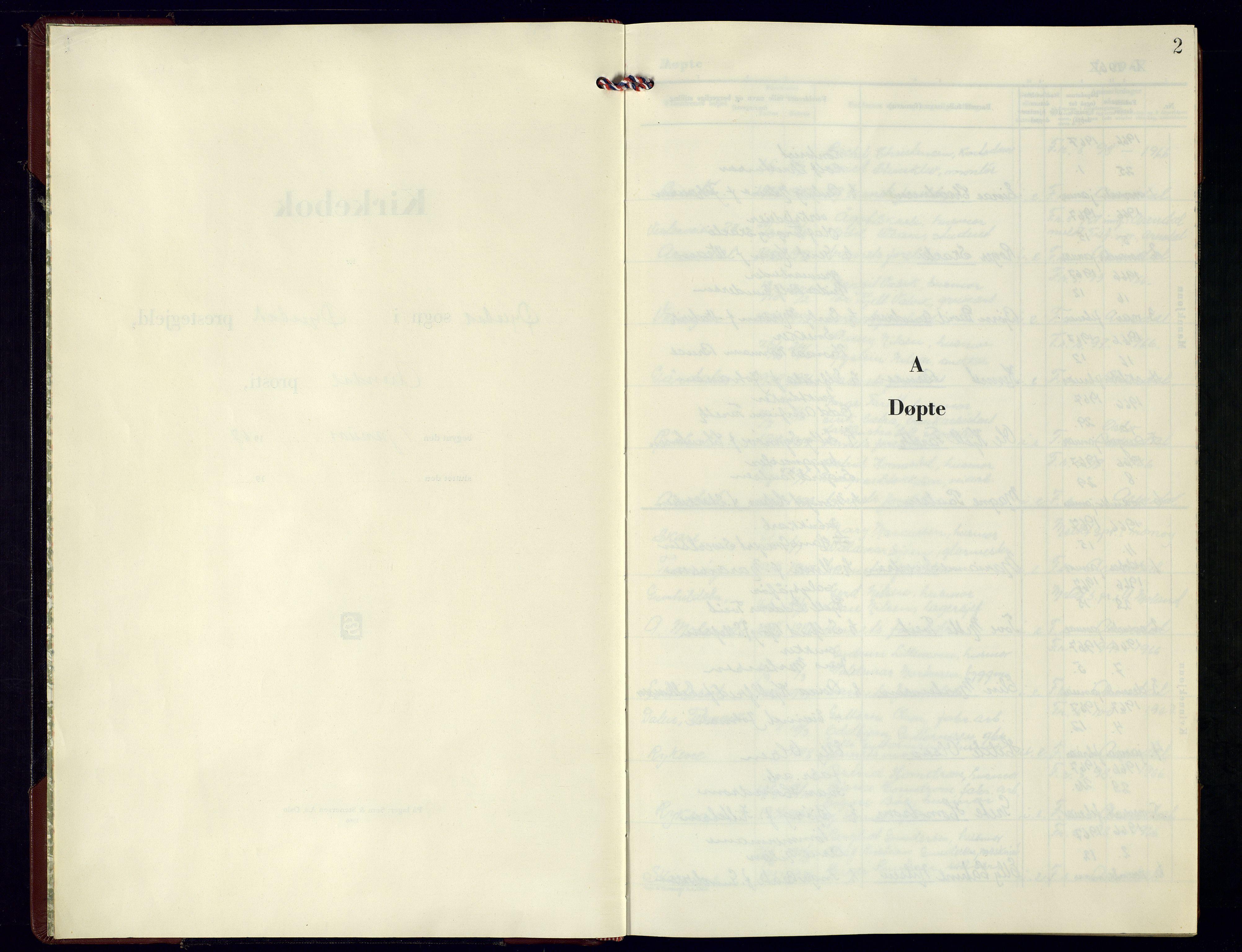 SAK, Øyestad sokneprestkontor, F/Fb/L0015: Klokkerbok nr. B-15, 1961-1976, s. 2