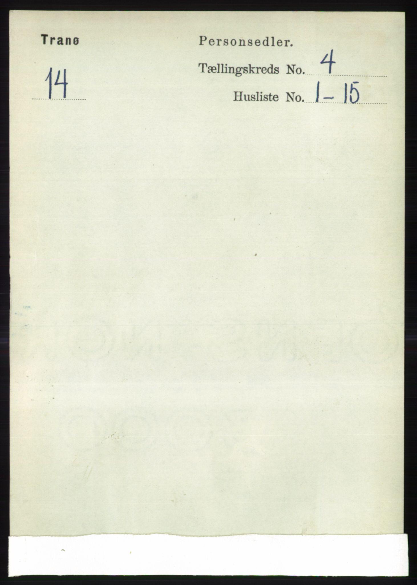 RA, Folketelling 1891 for 1927 Tranøy herred, 1891, s. 1434