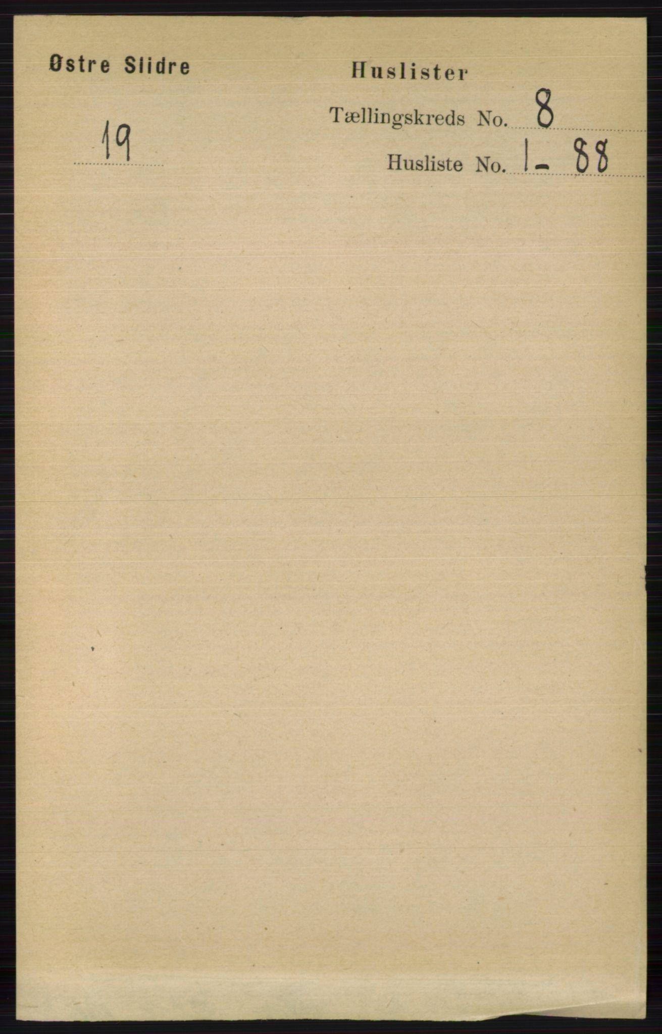RA, Folketelling 1891 for 0544 Øystre Slidre herred, 1891, s. 2461