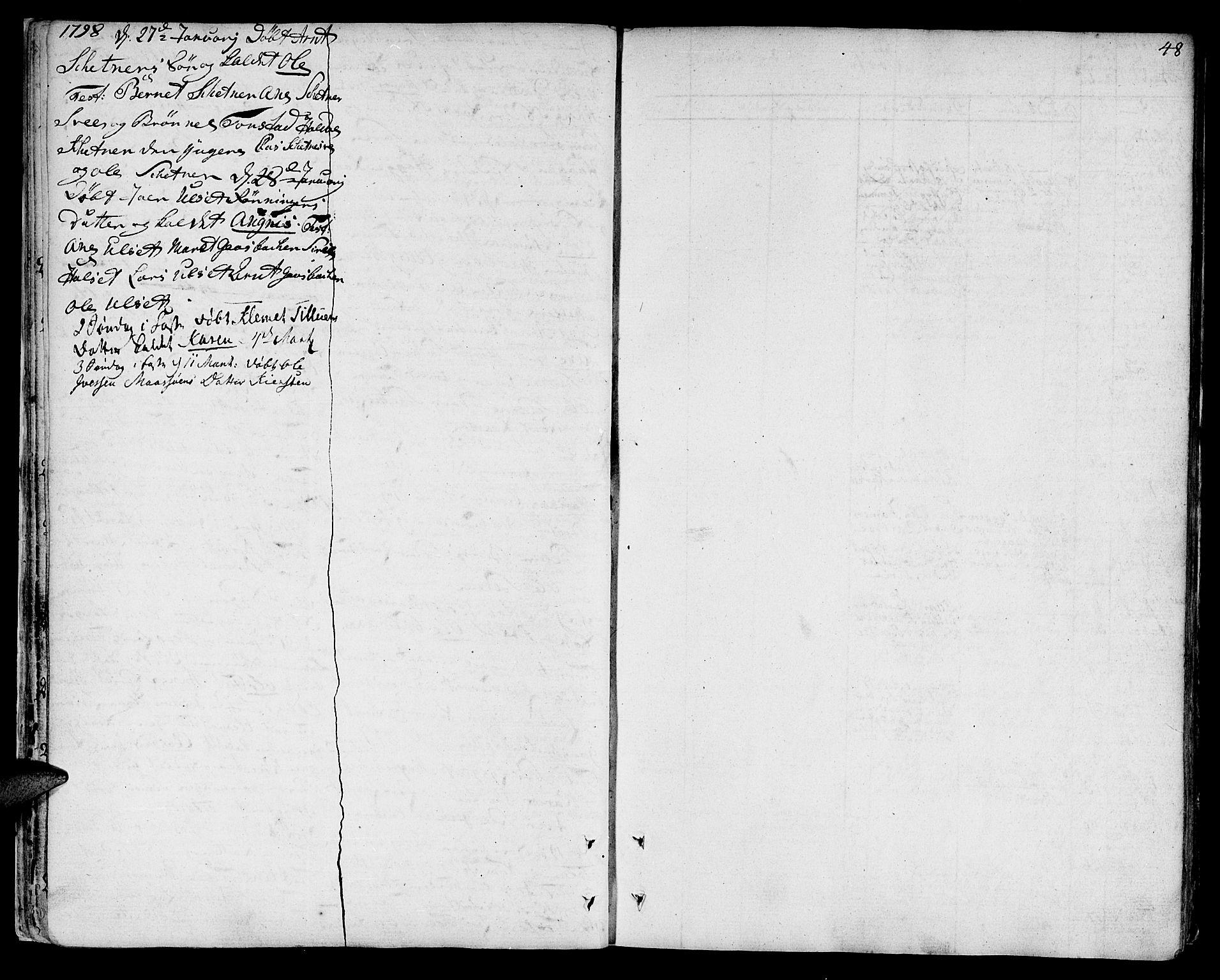 SAT, Ministerialprotokoller, klokkerbøker og fødselsregistre - Sør-Trøndelag, 618/L0438: Ministerialbok nr. 618A03, 1783-1815, s. 48