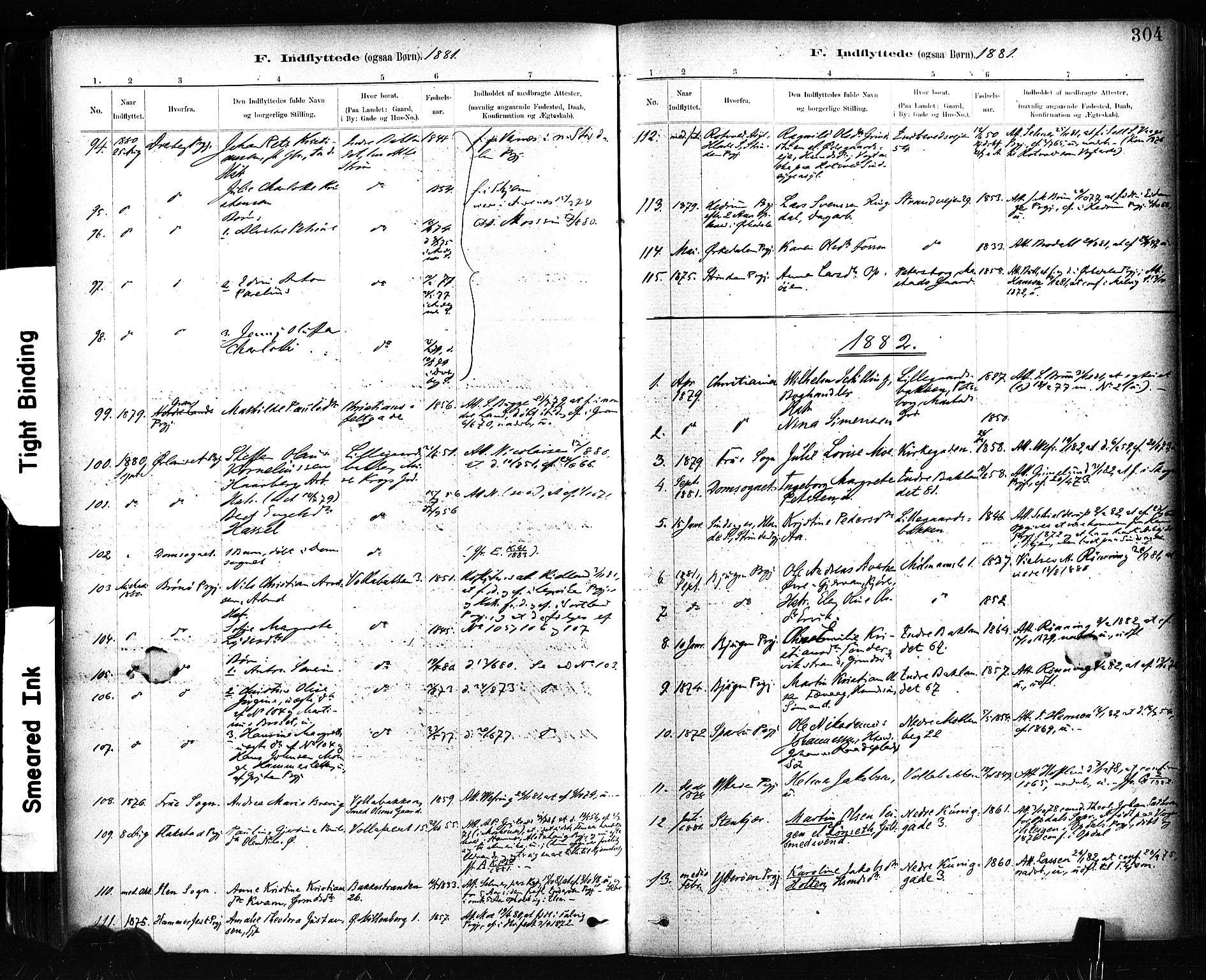 SAT, Ministerialprotokoller, klokkerbøker og fødselsregistre - Sør-Trøndelag, 604/L0189: Ministerialbok nr. 604A10, 1878-1892, s. 304