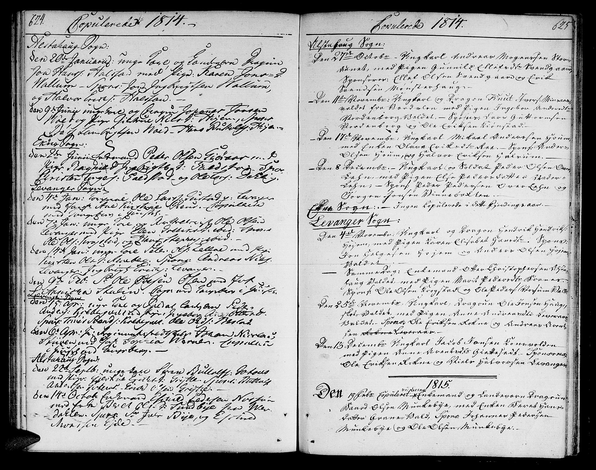 SAT, Ministerialprotokoller, klokkerbøker og fødselsregistre - Nord-Trøndelag, 717/L0145: Ministerialbok nr. 717A03 /1, 1810-1815, s. 624-625