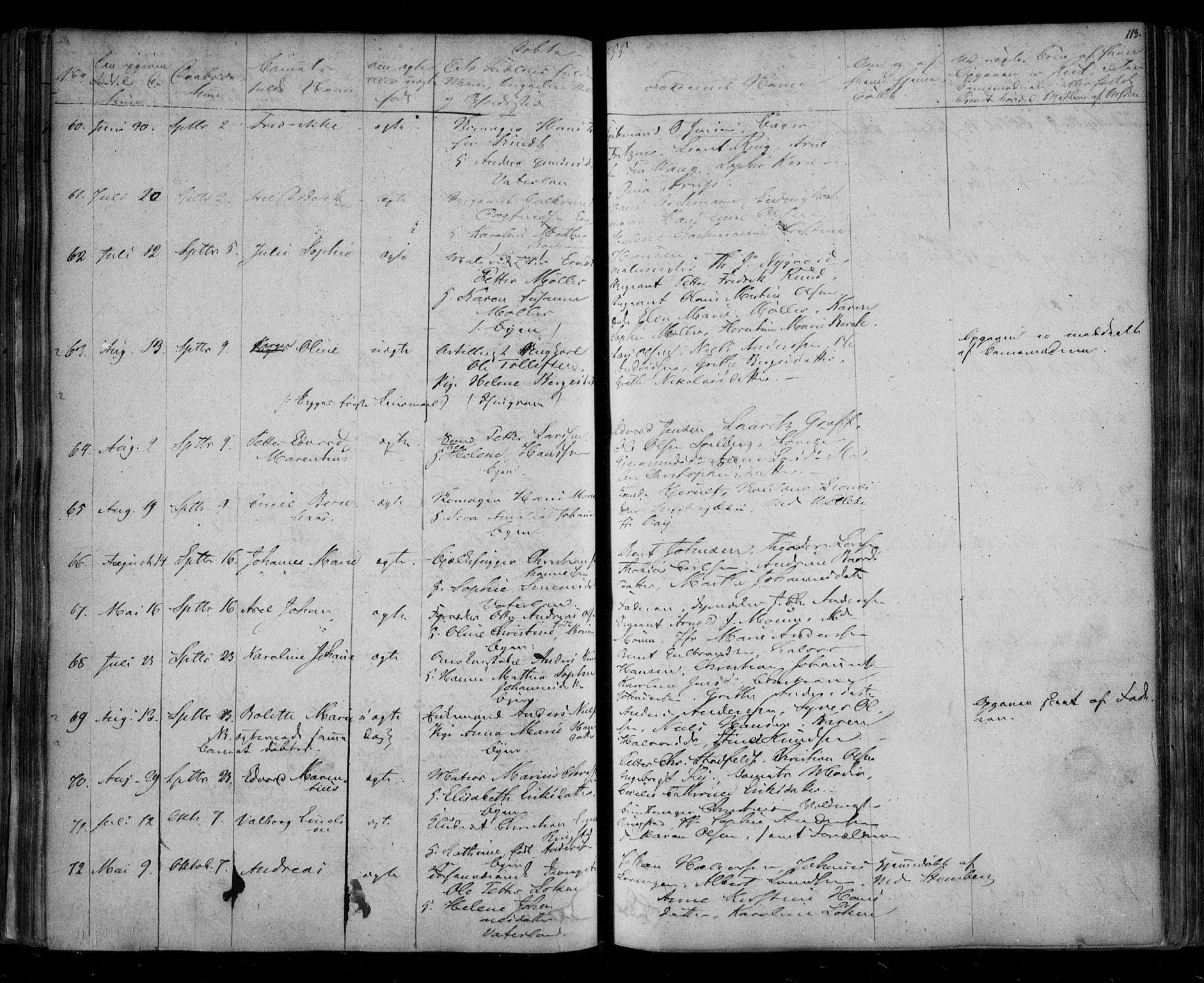 SAO, Fredrikstad prestekontor Kirkebøker, F/Fa/L0005: Ministerialbok nr. 5, 1835-1856, s. 113