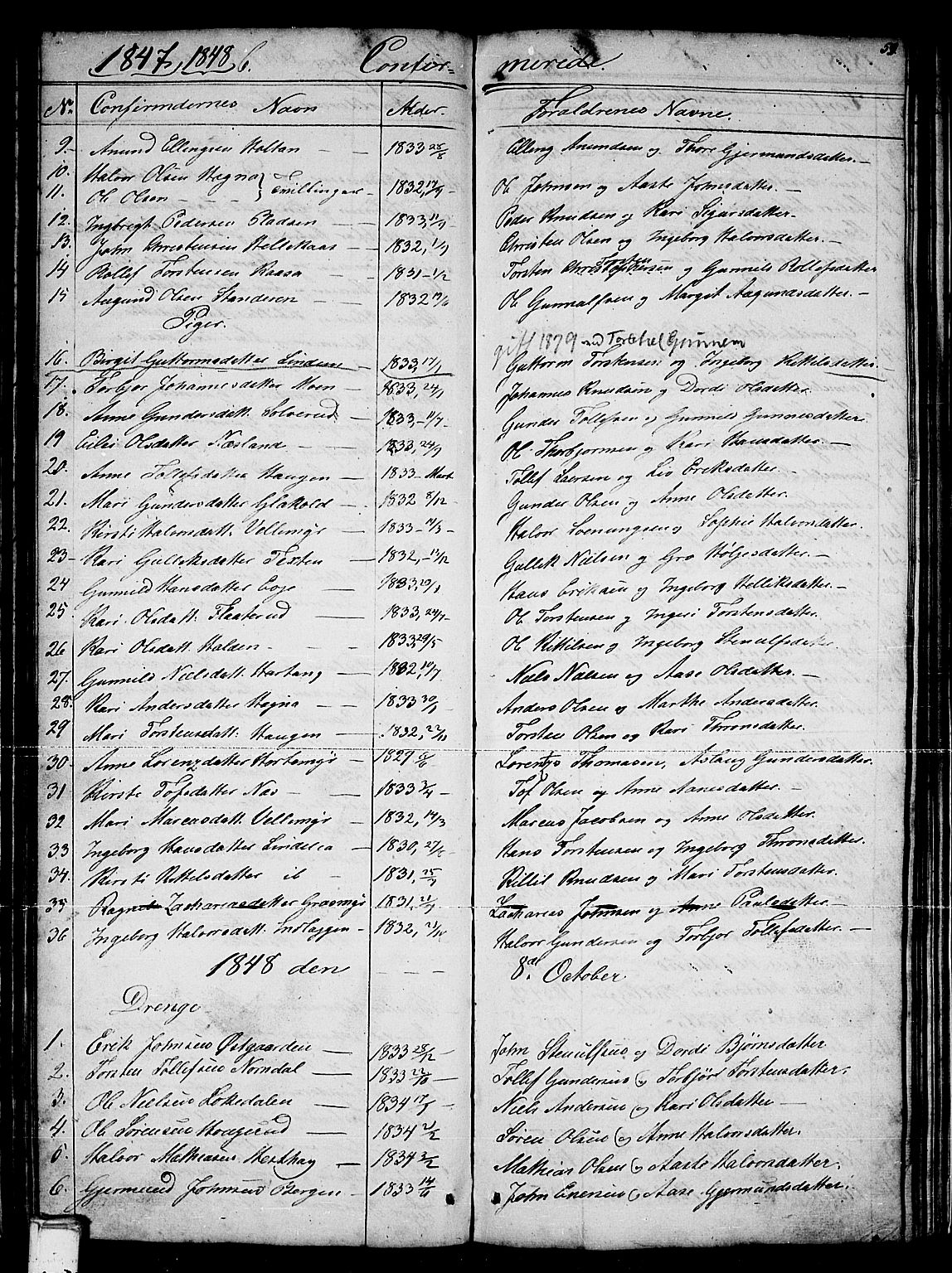 SAKO, Sauherad kirkebøker, G/Gb/L0001: Klokkerbok nr. II 1, 1845-1865, s. 59