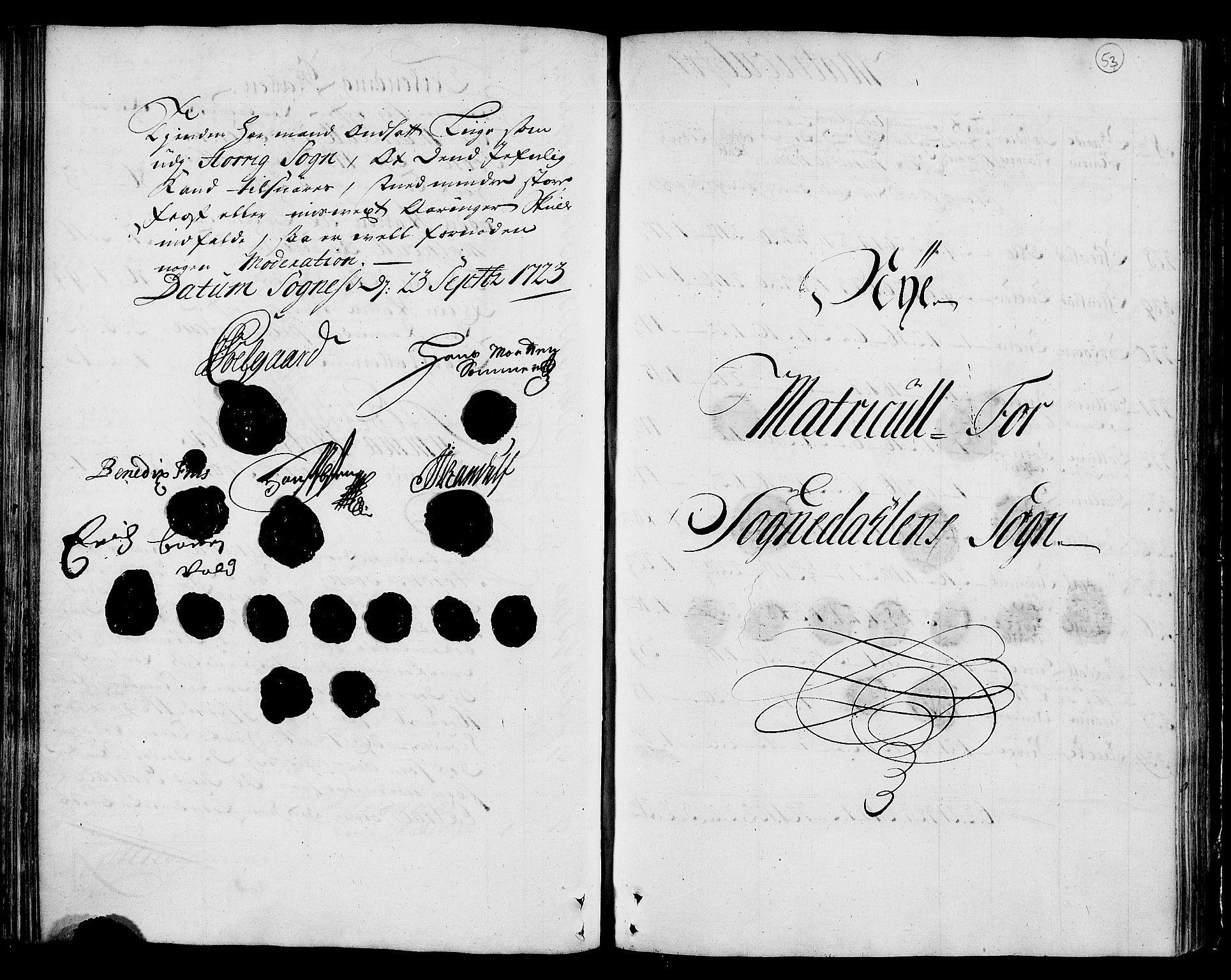 RA, Rentekammeret inntil 1814, Realistisk ordnet avdeling, N/Nb/Nbf/L0159: Gauldal matrikkelprotokoll, 1723, s. 52b-53a