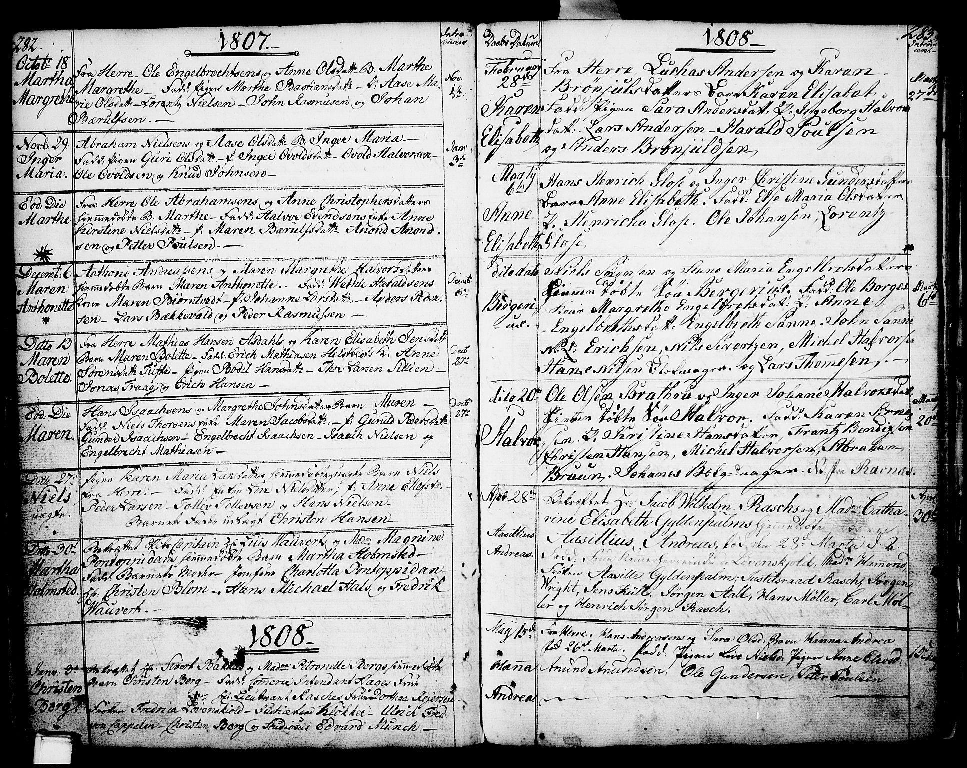 SAKO, Porsgrunn kirkebøker , F/Fa/L0002: Ministerialbok nr. 2, 1764-1814, s. 282-283