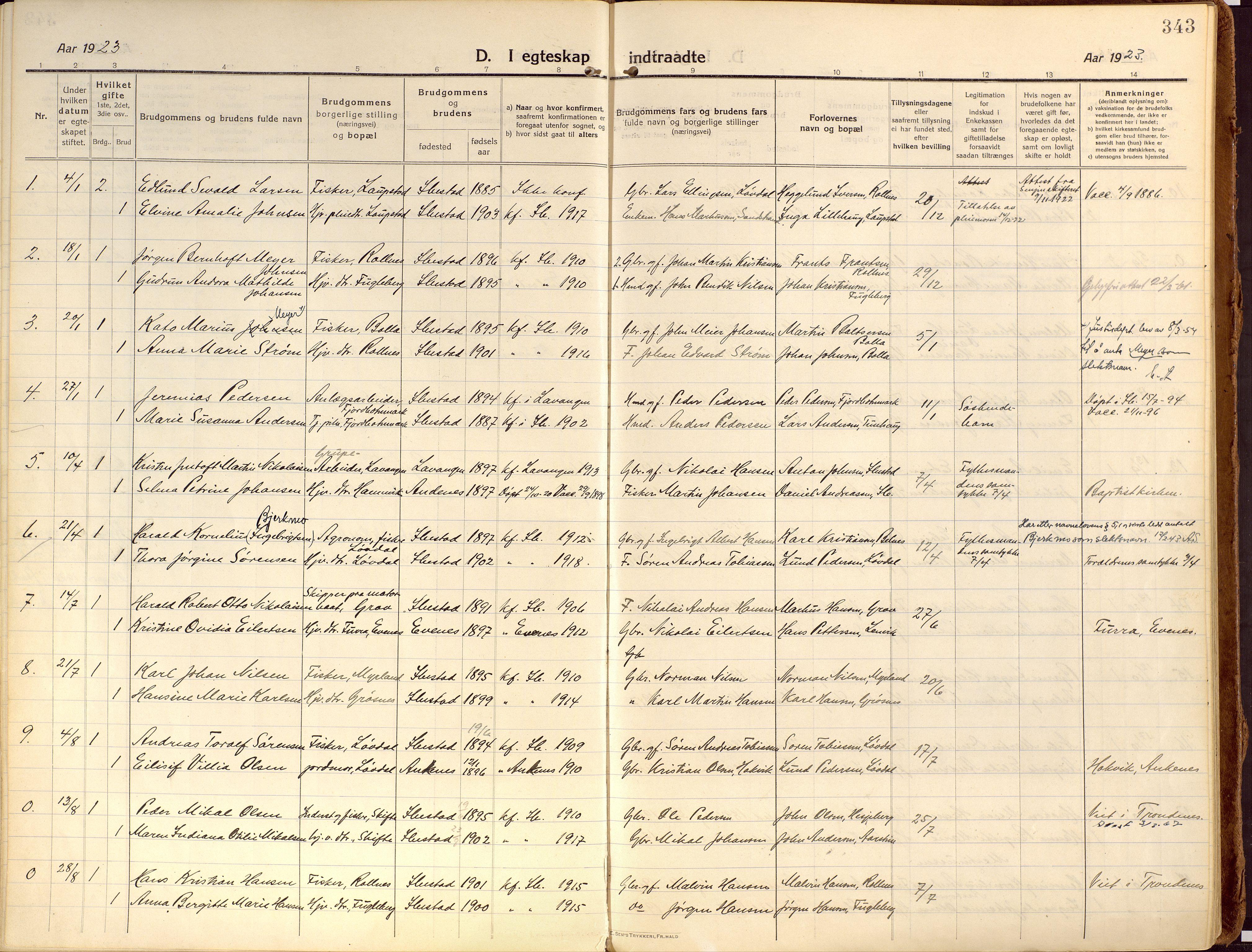 SATØ, Ibestad sokneprestembete, Ministerialbok nr. 18, 1915-1929, s. 343