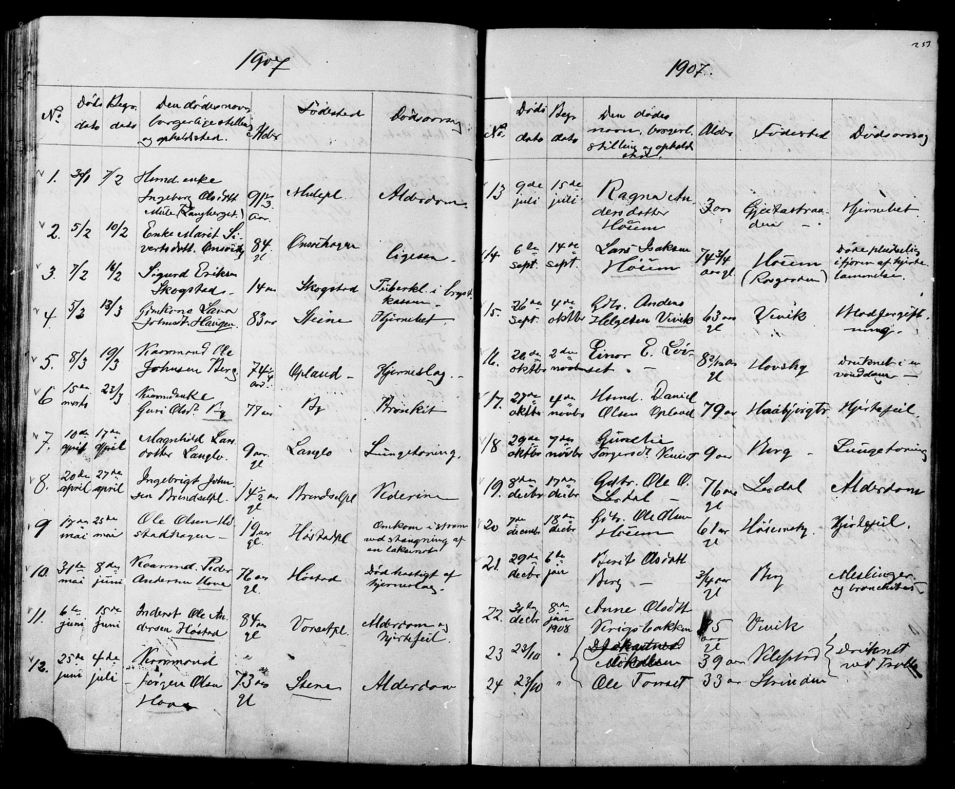 SAT, Ministerialprotokoller, klokkerbøker og fødselsregistre - Sør-Trøndelag, 612/L0387: Klokkerbok nr. 612C03, 1874-1908, s. 253