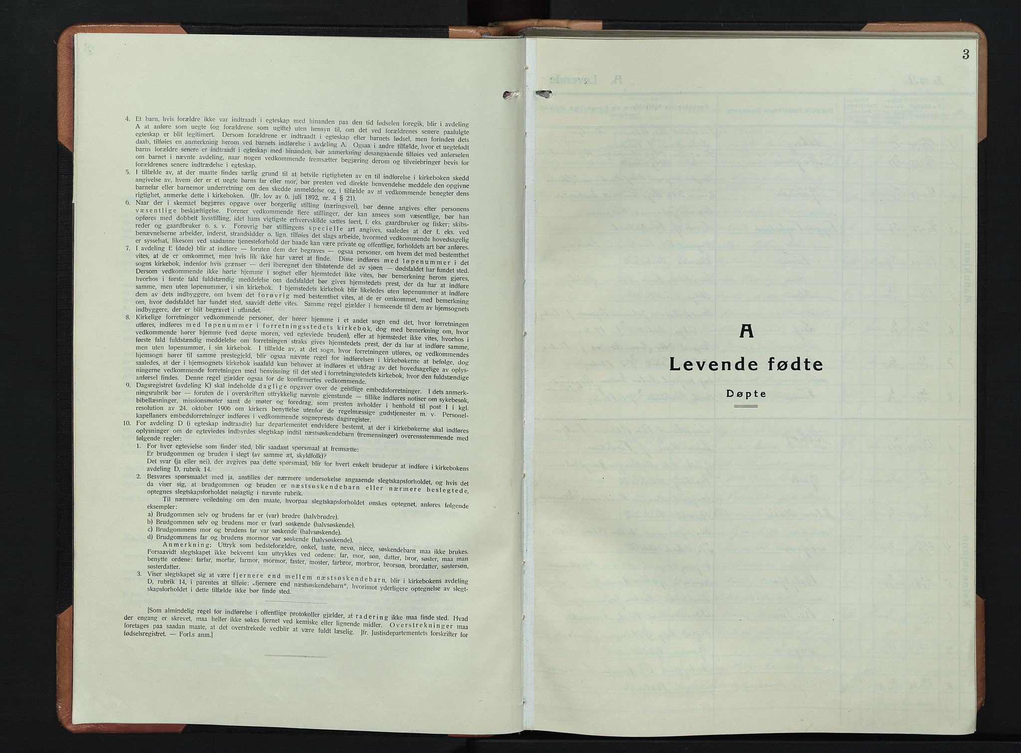 SAH, Søndre Land prestekontor, L/L0008: Klokkerbok nr. 8, 1926-1950, s. 3