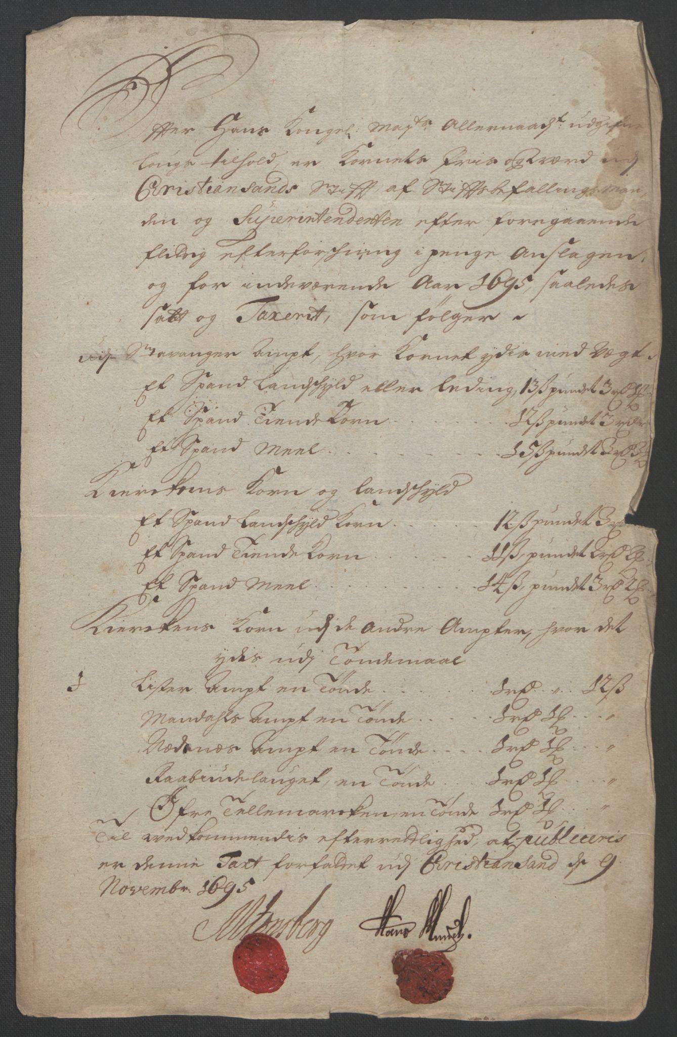 RA, Rentekammeret inntil 1814, Reviderte regnskaper, Fogderegnskap, R47/L2857: Fogderegnskap Ryfylke, 1694-1696, s. 122