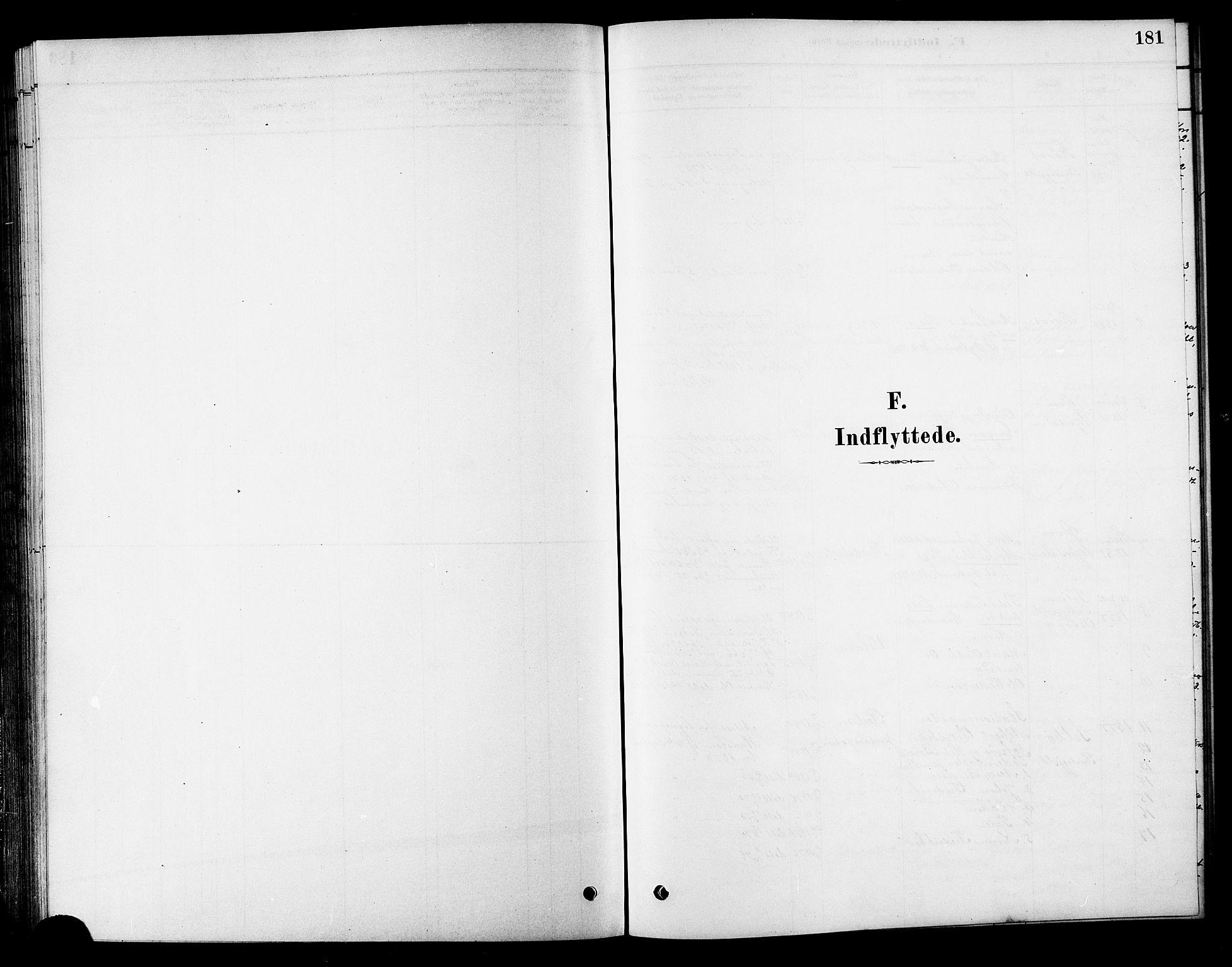 SAT, Ministerialprotokoller, klokkerbøker og fødselsregistre - Sør-Trøndelag, 686/L0983: Ministerialbok nr. 686A01, 1879-1890, s. 181