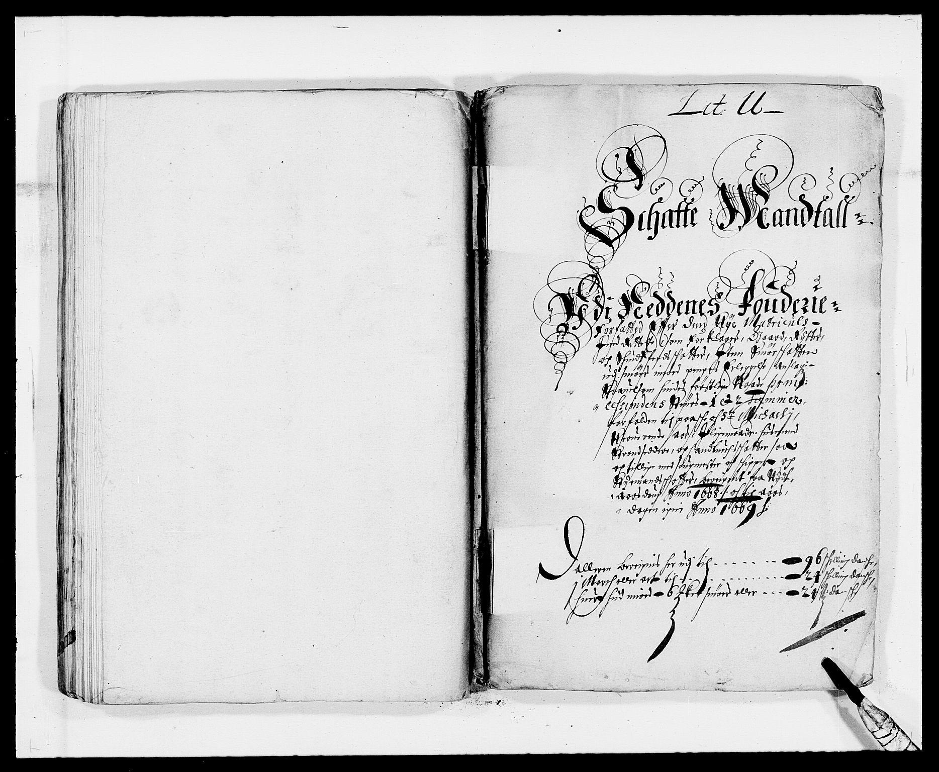 RA, Rentekammeret inntil 1814, Reviderte regnskaper, Fogderegnskap, R39/L2297: Fogderegnskap Nedenes, 1667-1669, s. 196