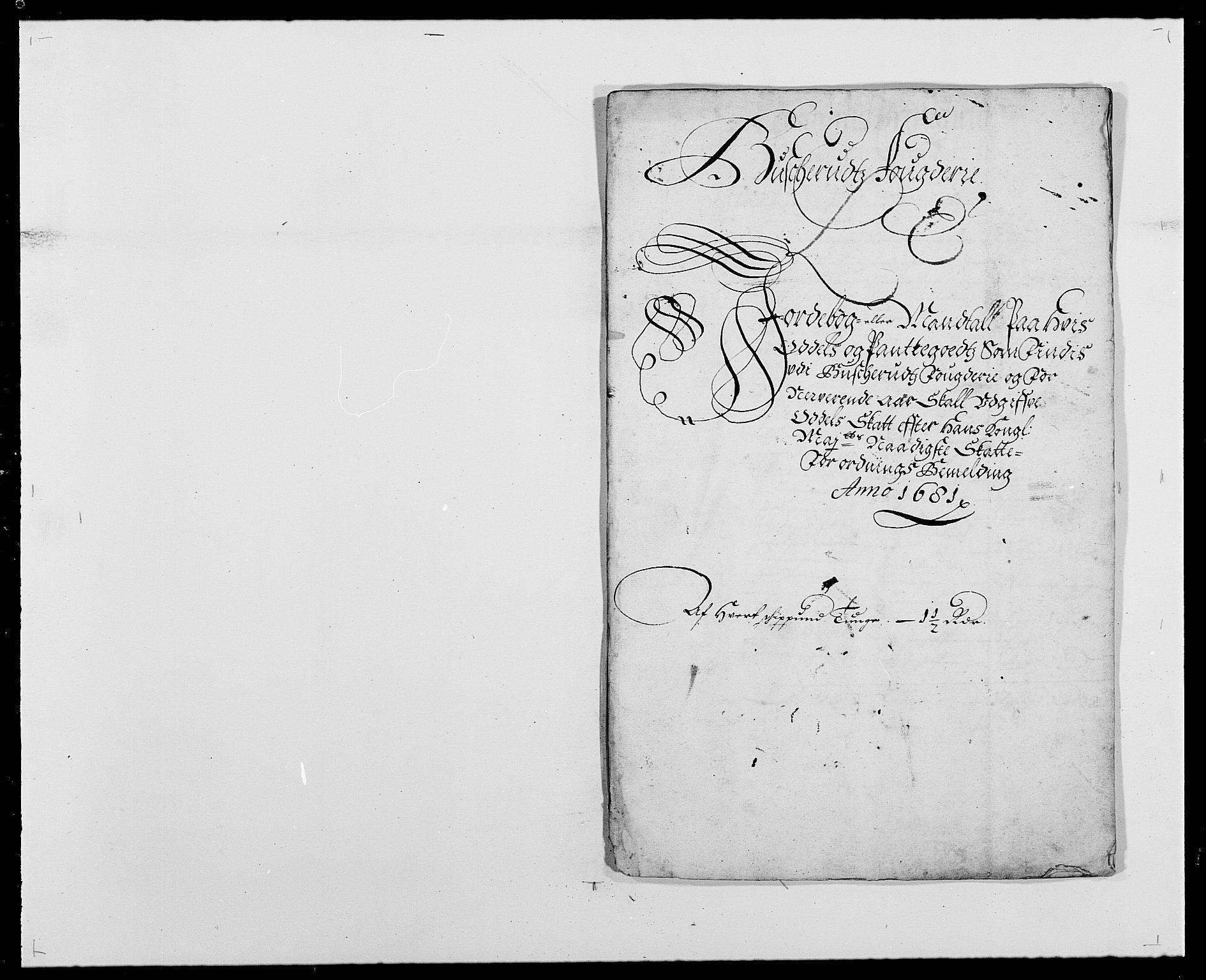 RA, Rentekammeret inntil 1814, Reviderte regnskaper, Fogderegnskap, R25/L1675: Fogderegnskap Buskerud, 1678-1681, s. 307