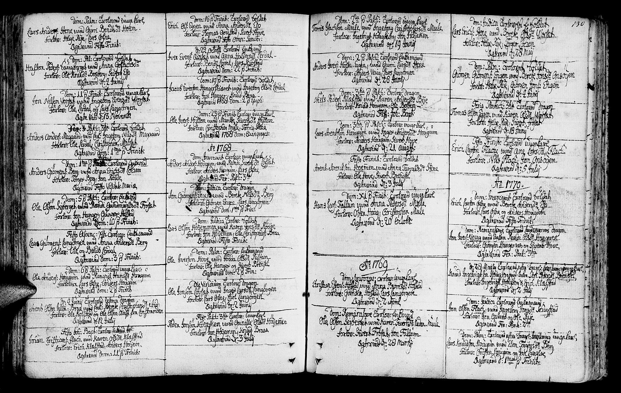 SAT, Ministerialprotokoller, klokkerbøker og fødselsregistre - Sør-Trøndelag, 612/L0370: Ministerialbok nr. 612A04, 1754-1802, s. 130