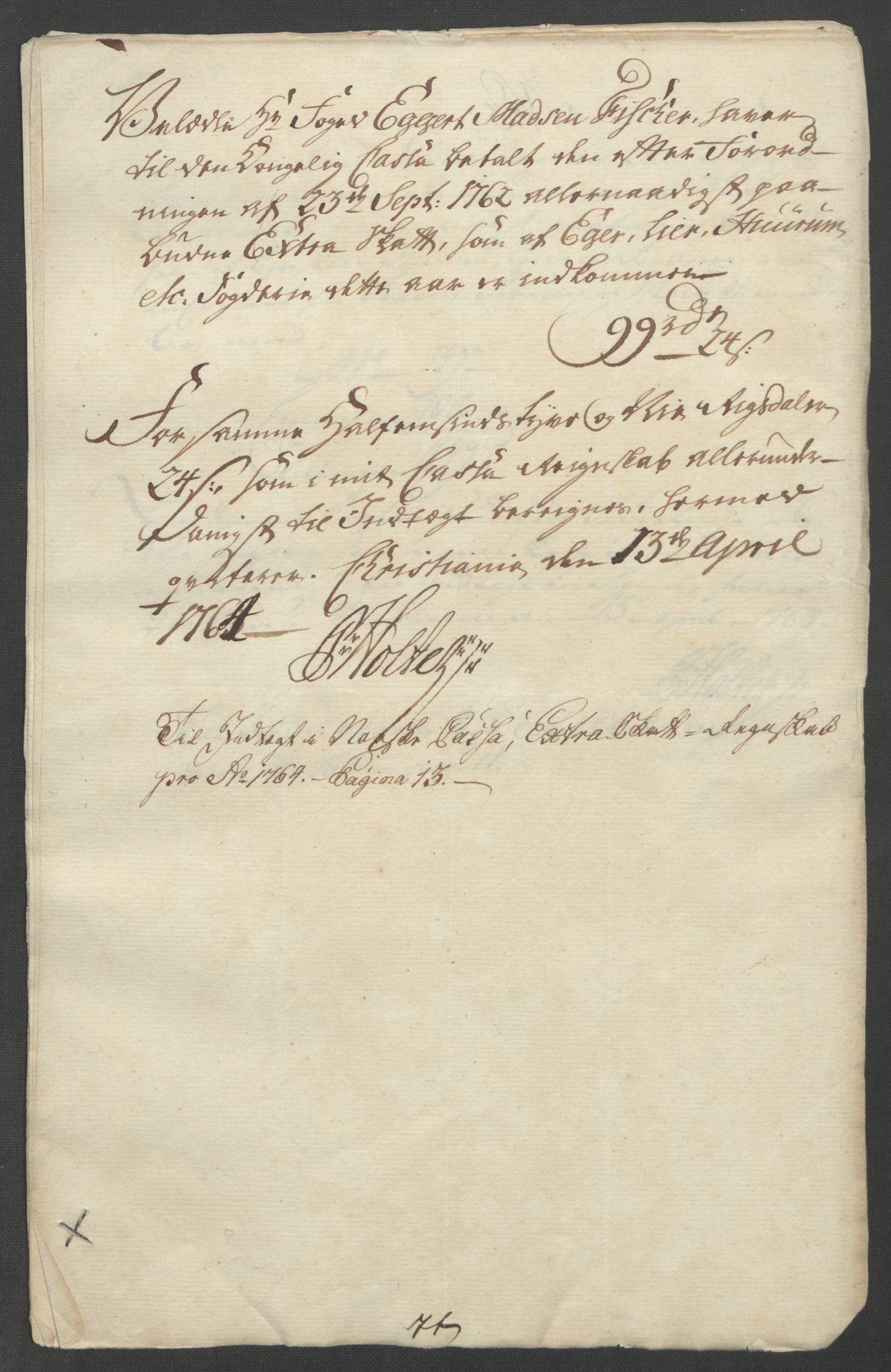 RA, Rentekammeret inntil 1814, Reviderte regnskaper, Fogderegnskap, R31/L1833: Ekstraskatten Hurum, Røyken, Eiker, Lier og Buskerud, 1762-1764, s. 125