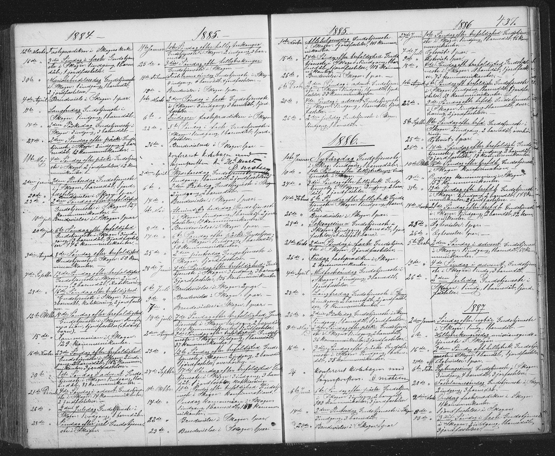 SAT, Ministerialprotokoller, klokkerbøker og fødselsregistre - Sør-Trøndelag, 667/L0798: Klokkerbok nr. 667C03, 1867-1929, s. 437
