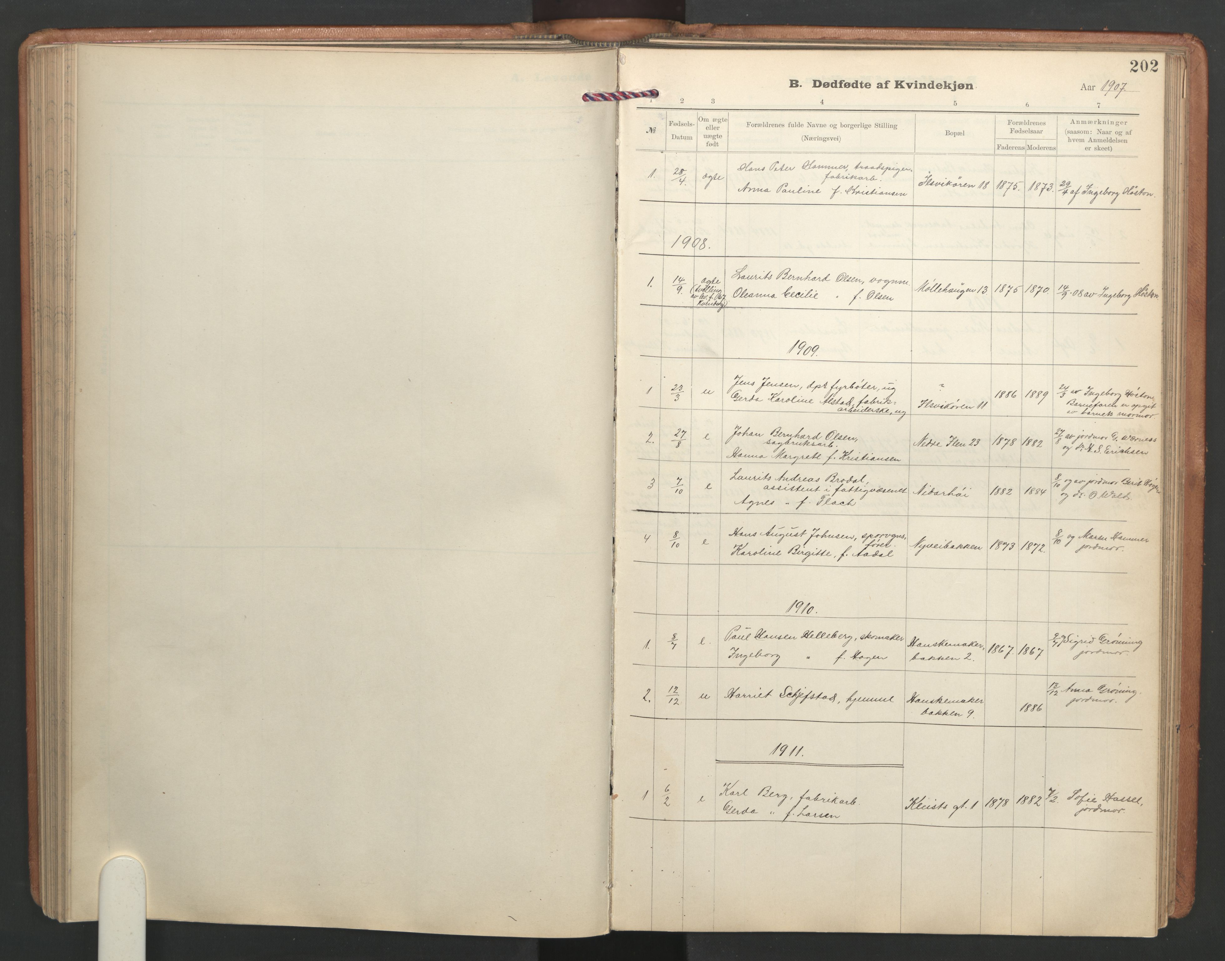 SAT, Ministerialprotokoller, klokkerbøker og fødselsregistre - Sør-Trøndelag, 603/L0173: Klokkerbok nr. 603C01, 1907-1962, s. 202