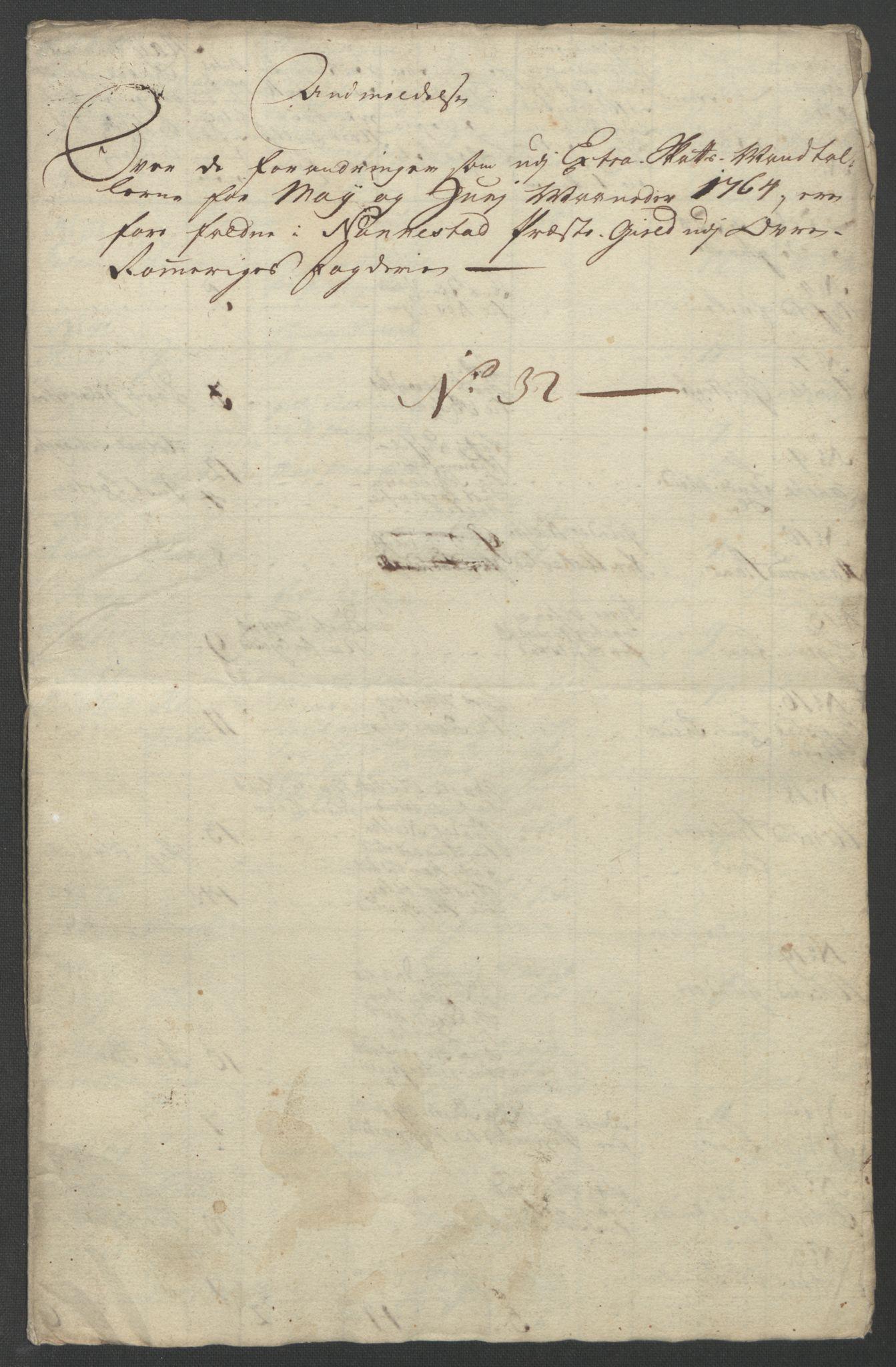 RA, Rentekammeret inntil 1814, Reviderte regnskaper, Fogderegnskap, R12/L0804: Ekstraskatten Øvre Romerike, 1764, s. 40