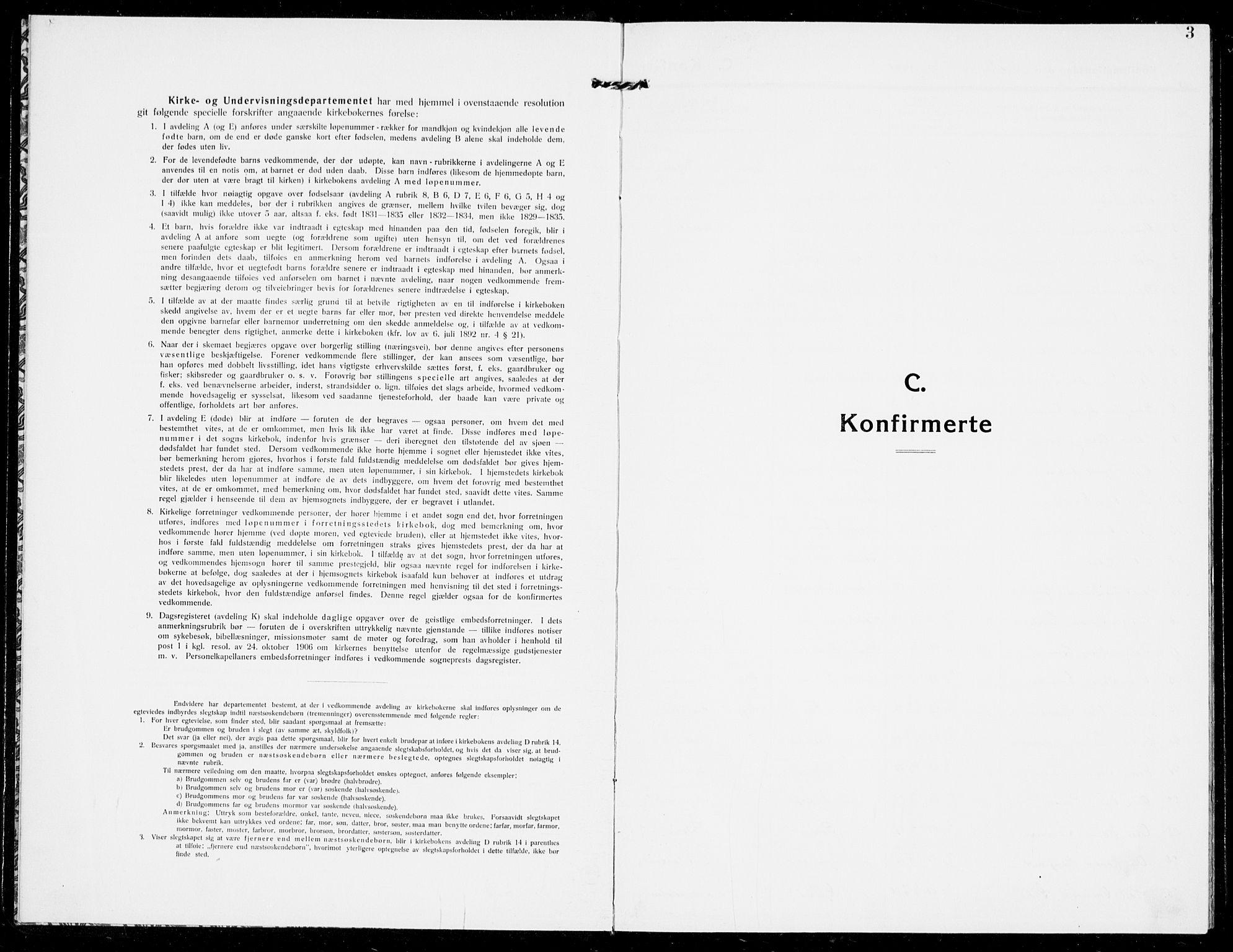 SAKO, Modum kirkebøker, G/Ga/L0010: Klokkerbok nr. I 10, 1909-1923, s. 3