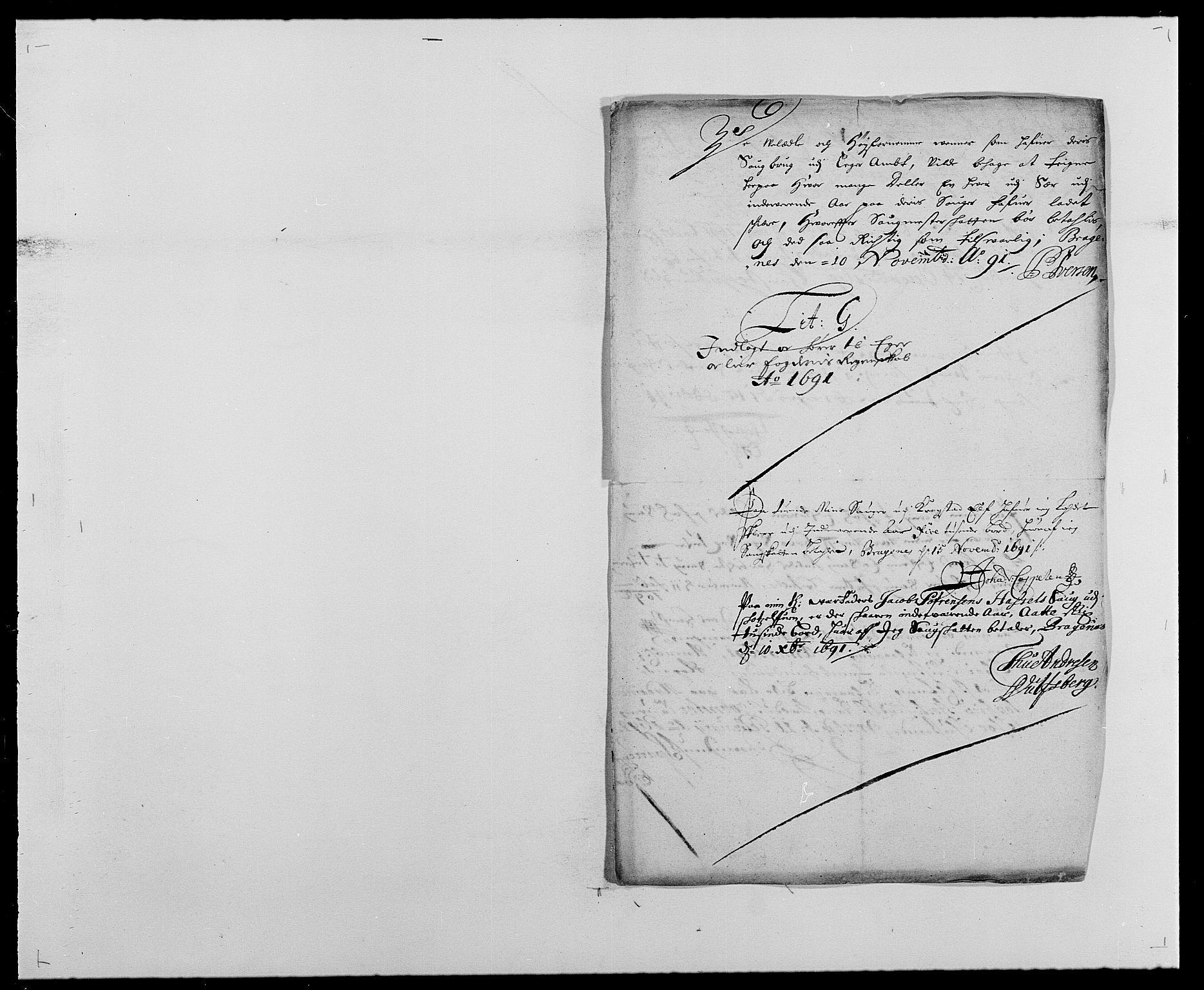 RA, Rentekammeret inntil 1814, Reviderte regnskaper, Fogderegnskap, R28/L1689: Fogderegnskap Eiker og Lier, 1690-1691, s. 289