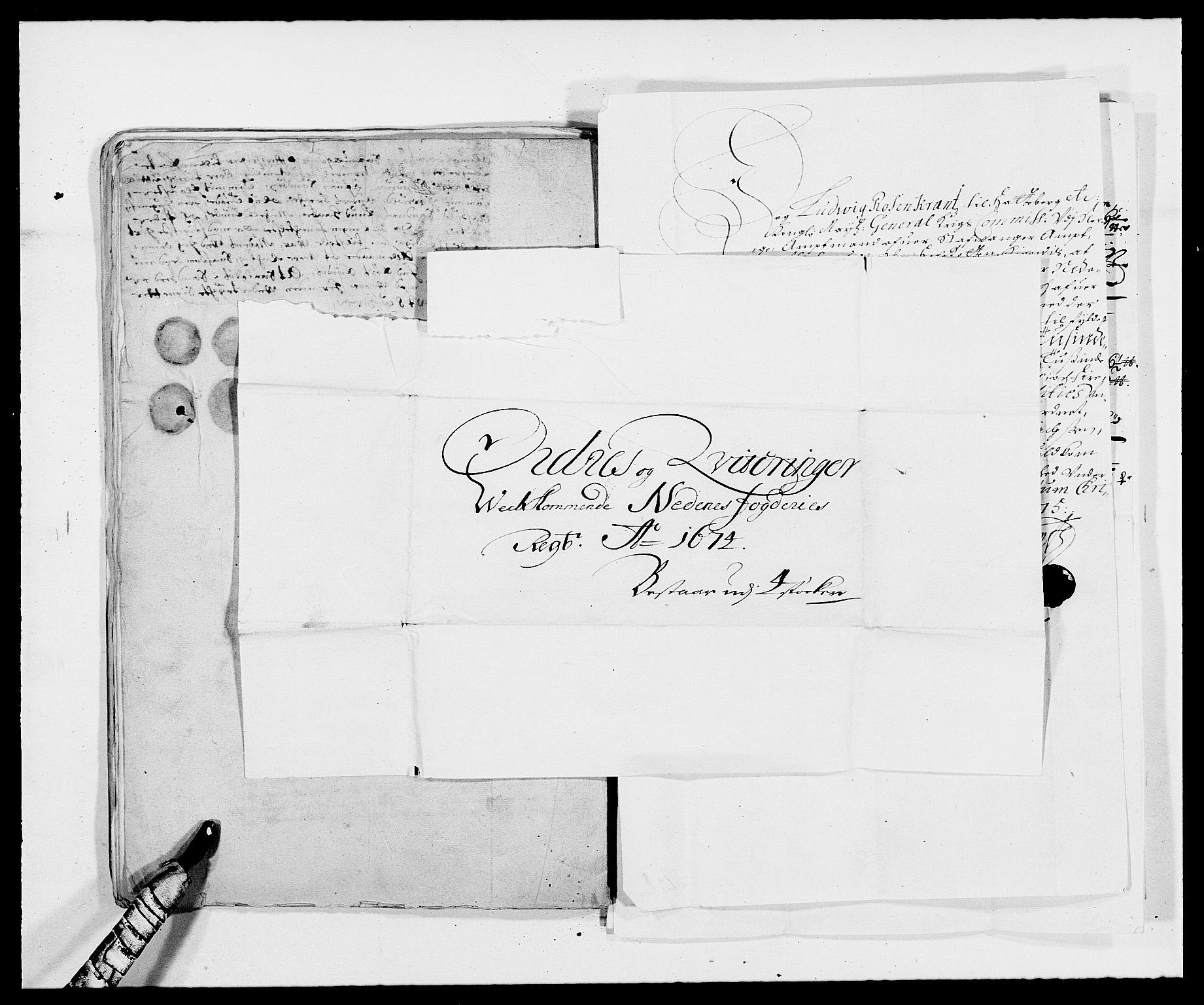 RA, Rentekammeret inntil 1814, Reviderte regnskaper, Fogderegnskap, R39/L2300: Fogderegnskap Nedenes, 1672-1674, s. 429