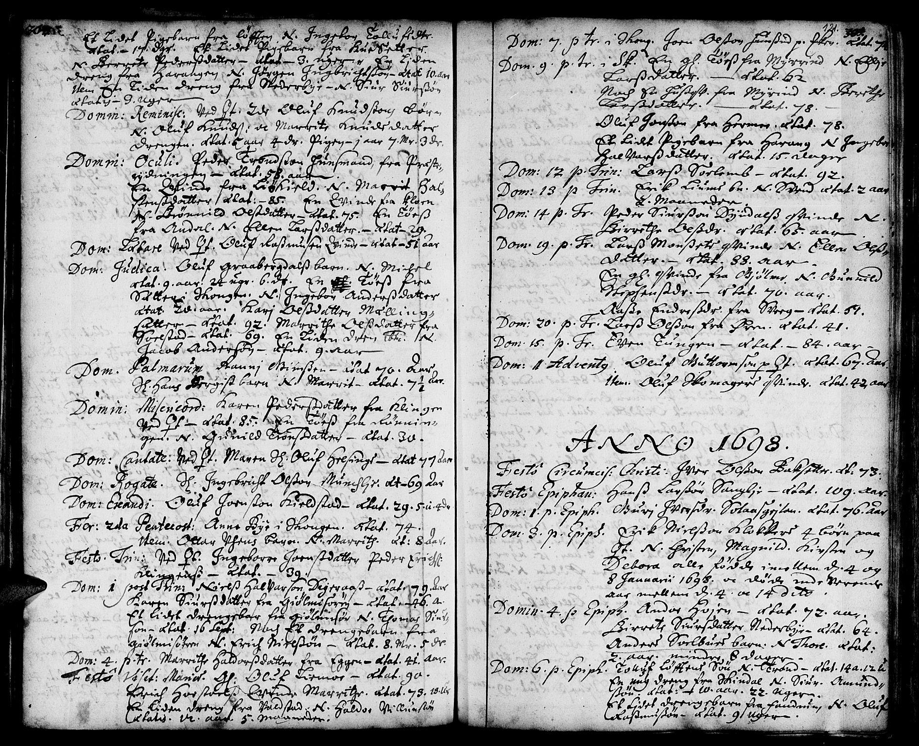 SAT, Ministerialprotokoller, klokkerbøker og fødselsregistre - Sør-Trøndelag, 668/L0801: Ministerialbok nr. 668A01, 1695-1716, s. 120-121