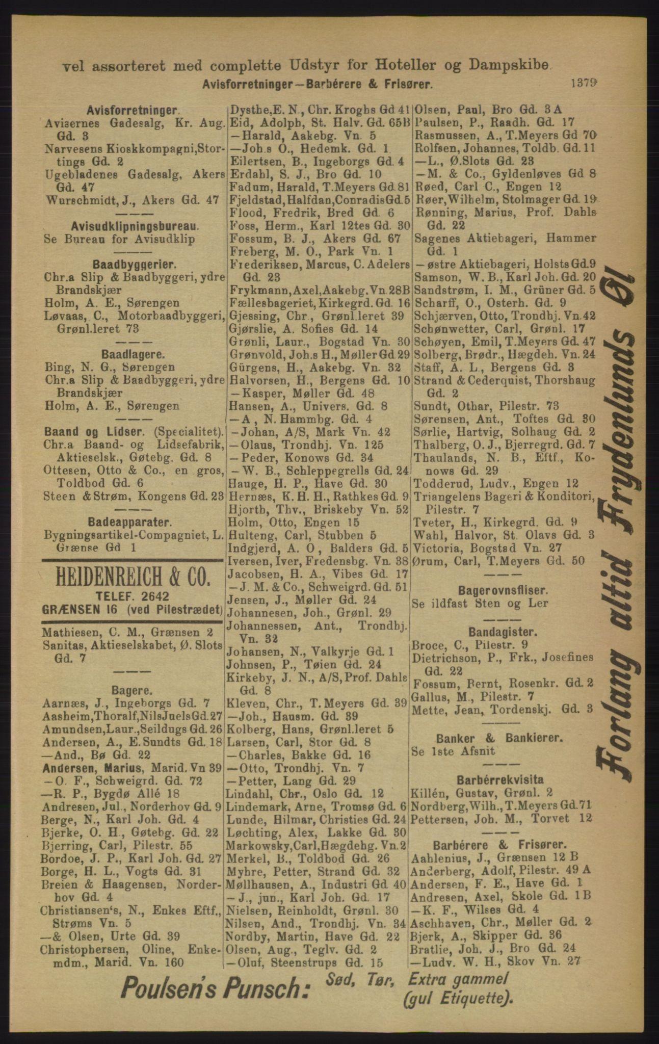 RA, Kristiania adressebok (publikasjon)*, 1906, s. 1379