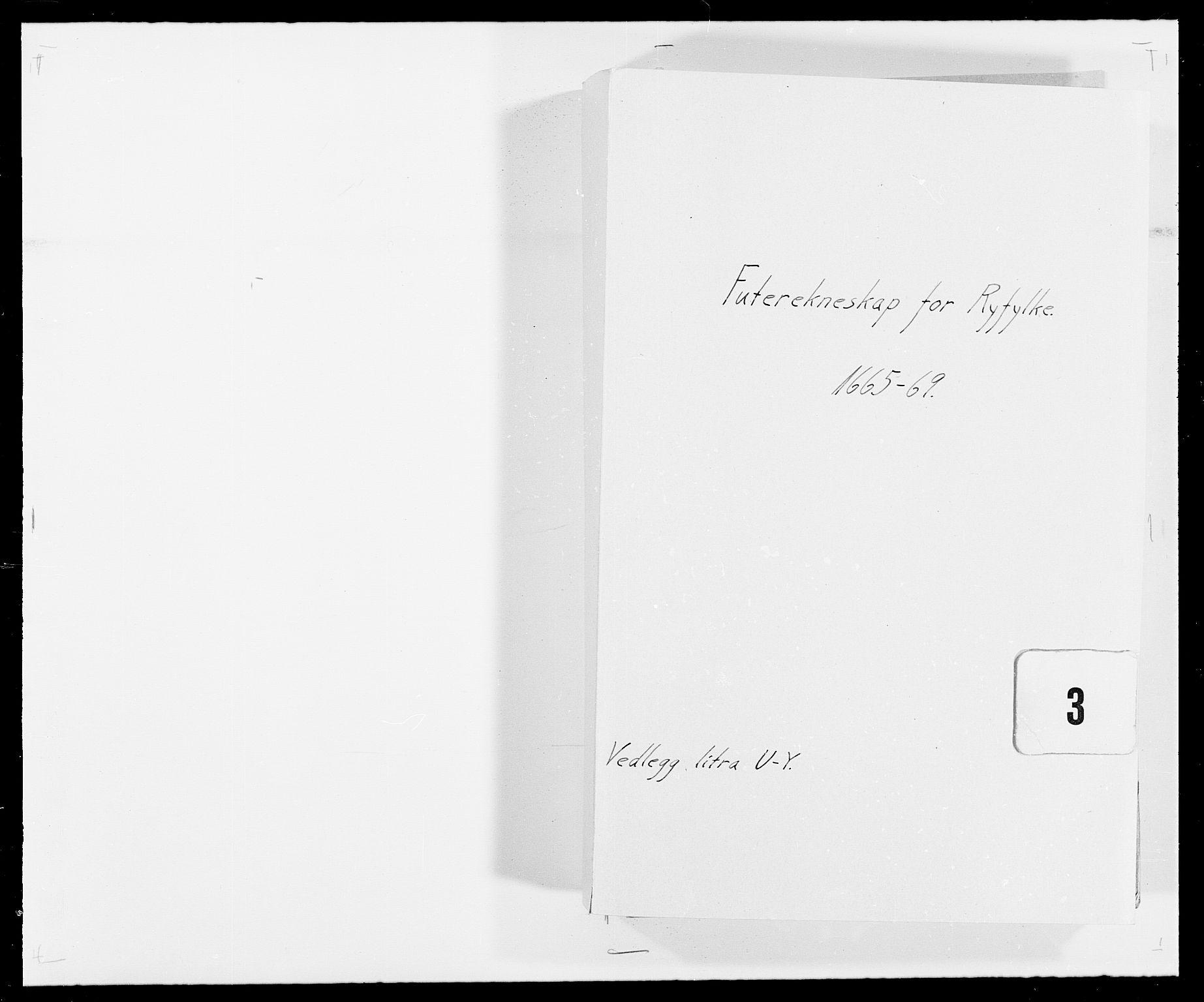 RA, Rentekammeret inntil 1814, Reviderte regnskaper, Fogderegnskap, R47/L2842: Fogderegnskap Ryfylke, 1665-1669, s. 1