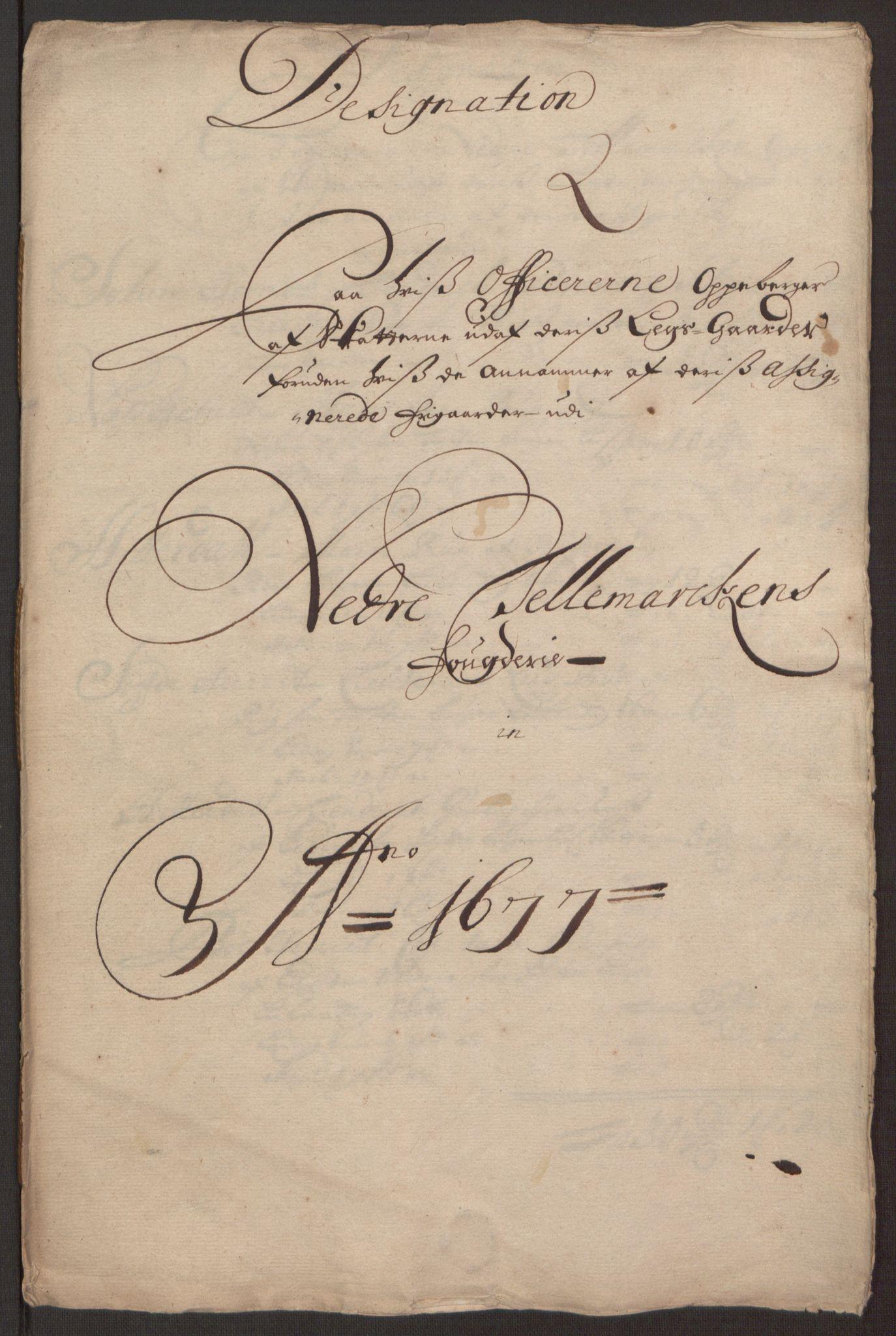 RA, Rentekammeret inntil 1814, Reviderte regnskaper, Fogderegnskap, R35/L2068: Fogderegnskap Øvre og Nedre Telemark, 1677, s. 226