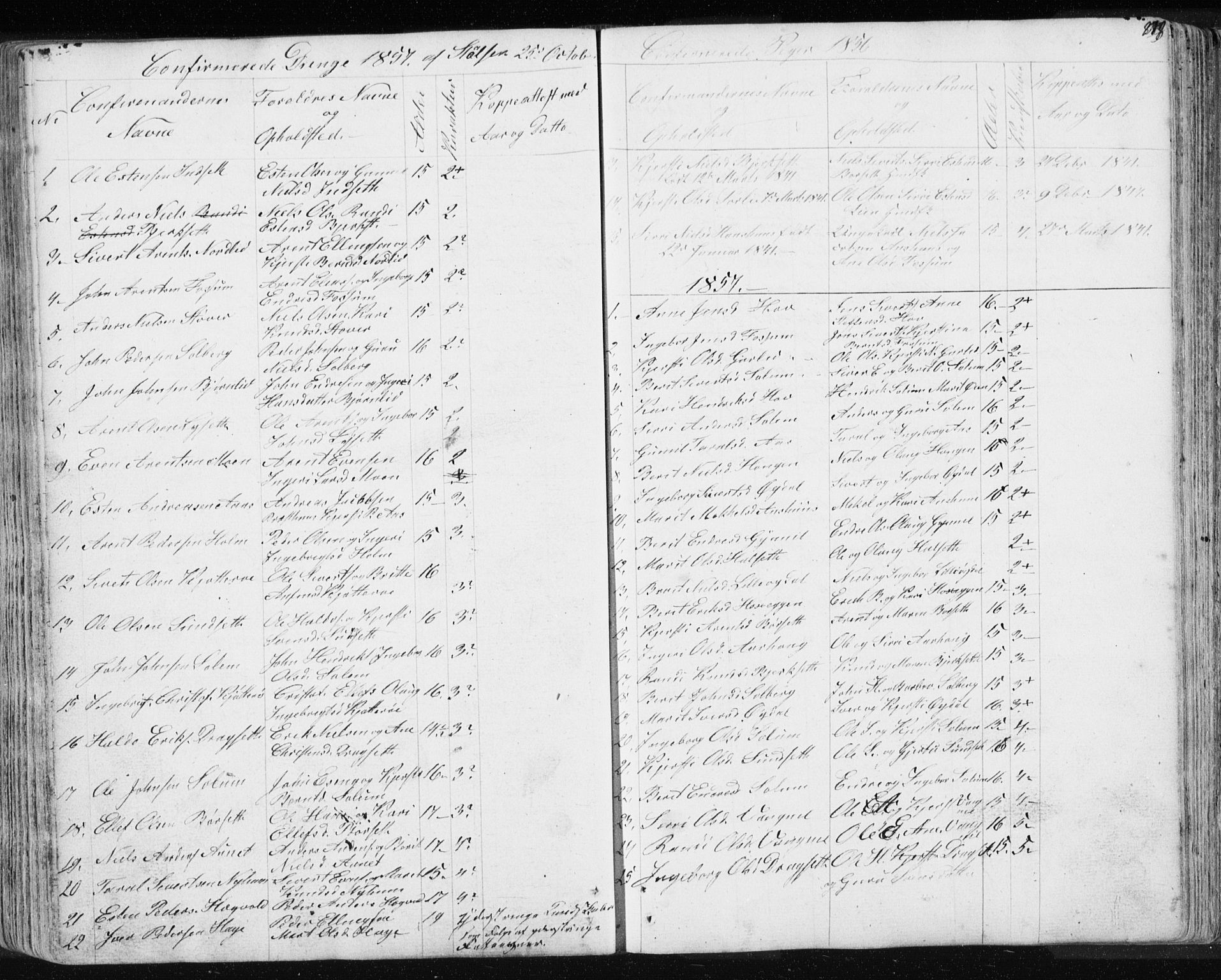 SAT, Ministerialprotokoller, klokkerbøker og fødselsregistre - Sør-Trøndelag, 689/L1043: Klokkerbok nr. 689C02, 1816-1892, s. 278