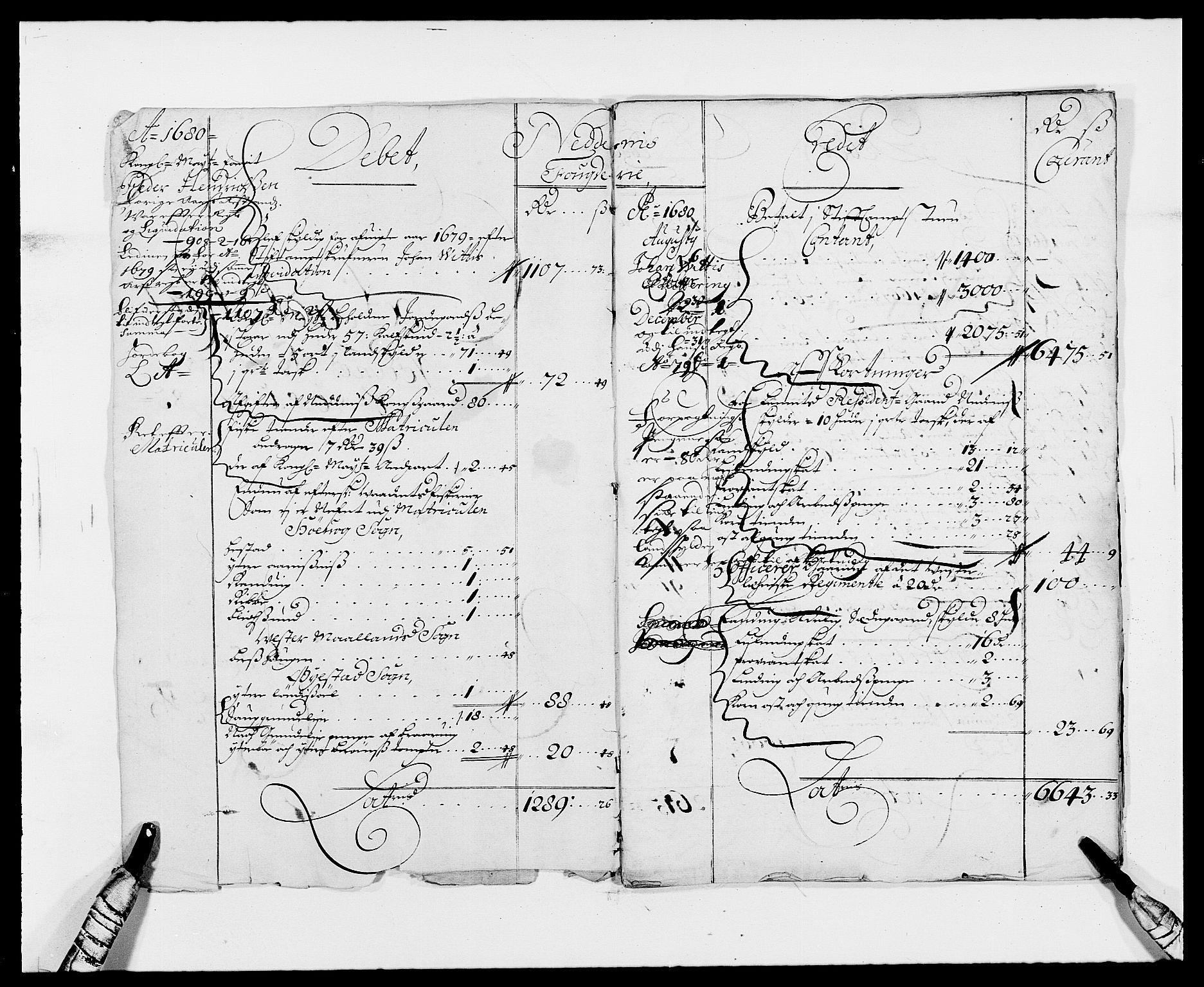 RA, Rentekammeret inntil 1814, Reviderte regnskaper, Fogderegnskap, R39/L2306: Fogderegnskap Nedenes, 1680-1683, s. 3