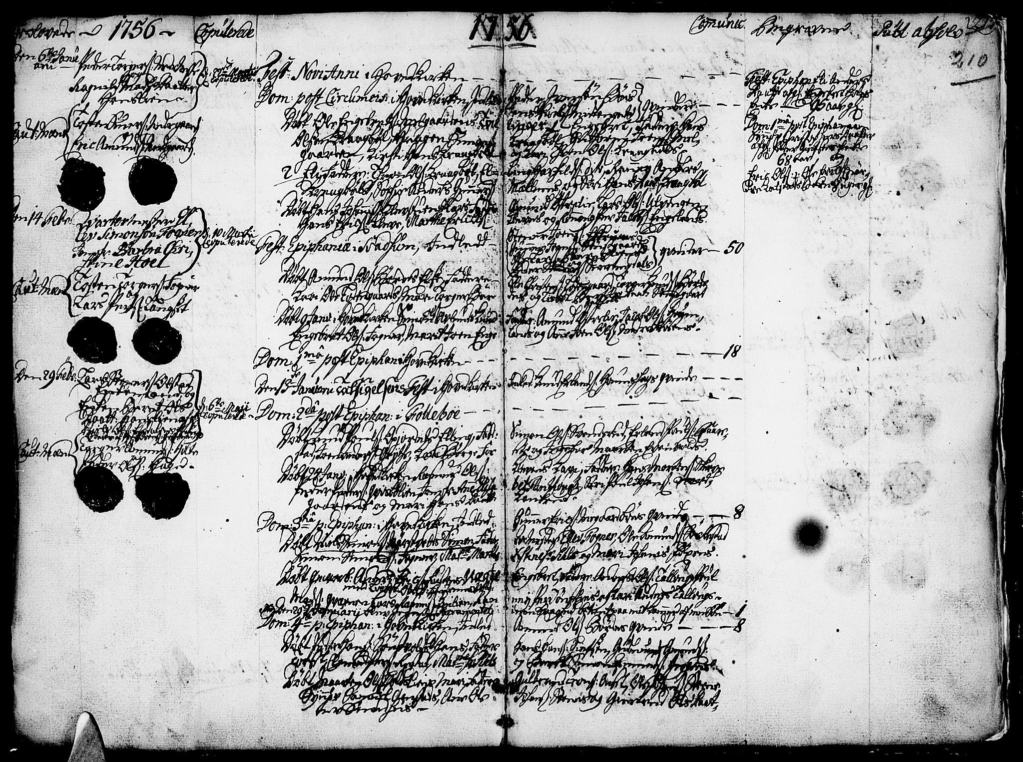 SAH, Gausdal prestekontor, Ministerialbok nr. 2, 1729-1757, s. 210