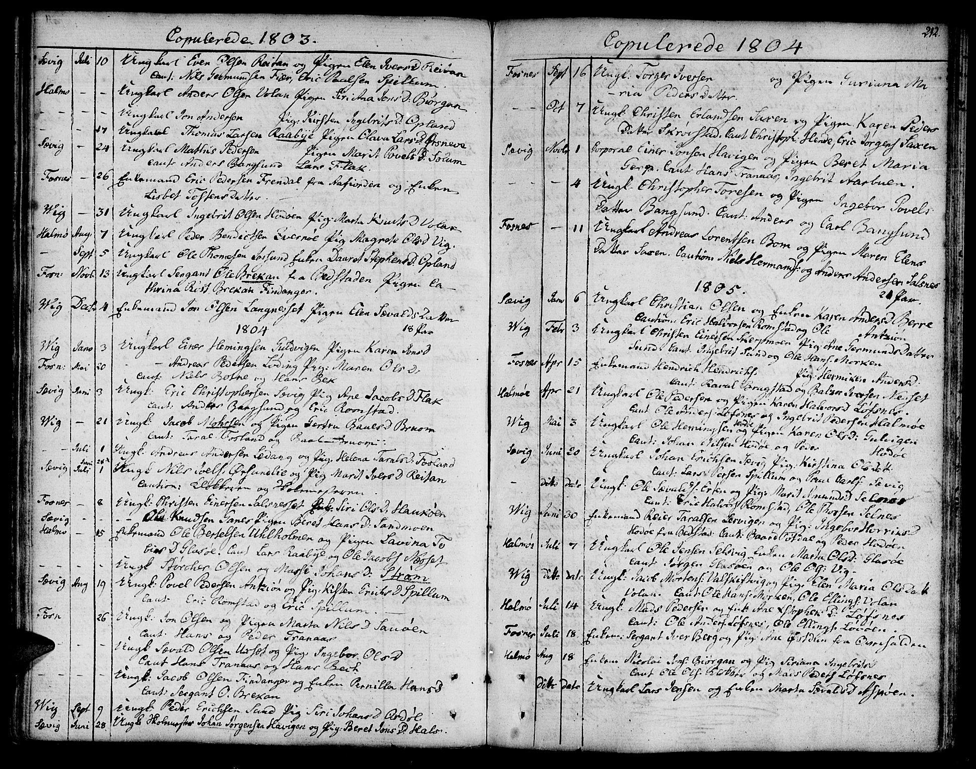 SAT, Ministerialprotokoller, klokkerbøker og fødselsregistre - Nord-Trøndelag, 773/L0608: Ministerialbok nr. 773A02, 1784-1816, s. 212