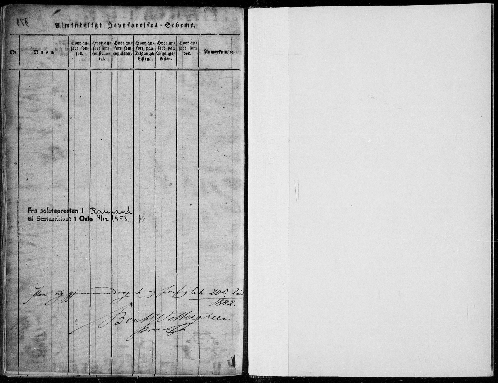 SAKO, Rauland kirkebøker, F/Fa/L0001: Ministerialbok nr. 1, 1814-1859