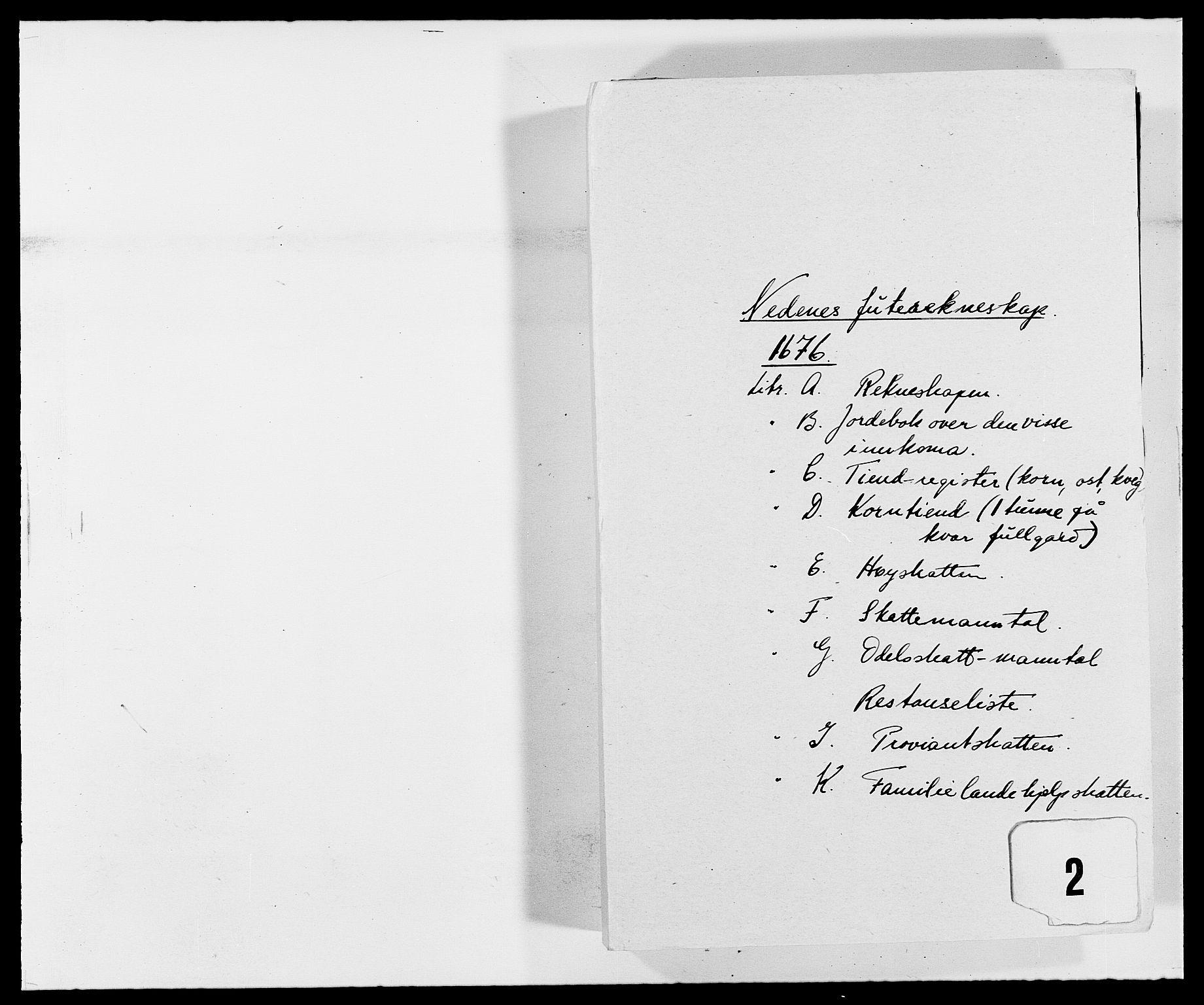 RA, Rentekammeret inntil 1814, Reviderte regnskaper, Fogderegnskap, R39/L2301: Fogderegnskap Nedenes, 1675-1676, s. 172