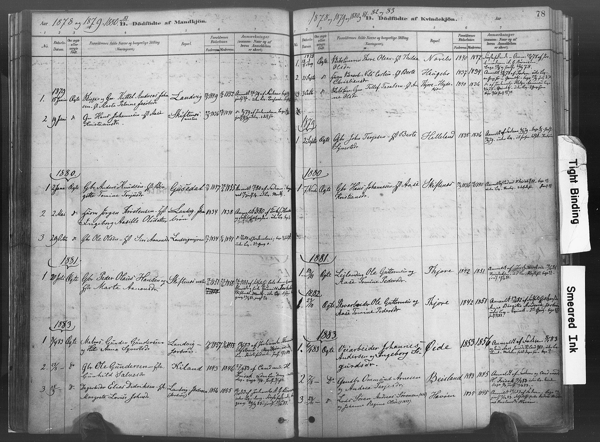 SAK, Hommedal sokneprestkontor, F/Fa/Fab/L0006: Ministerialbok nr. A 6, 1878-1897, s. 78