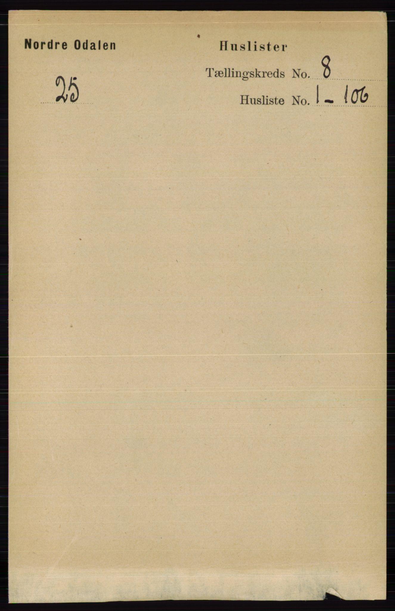 RA, Folketelling 1891 for 0418 Nord-Odal herred, 1891, s. 3185