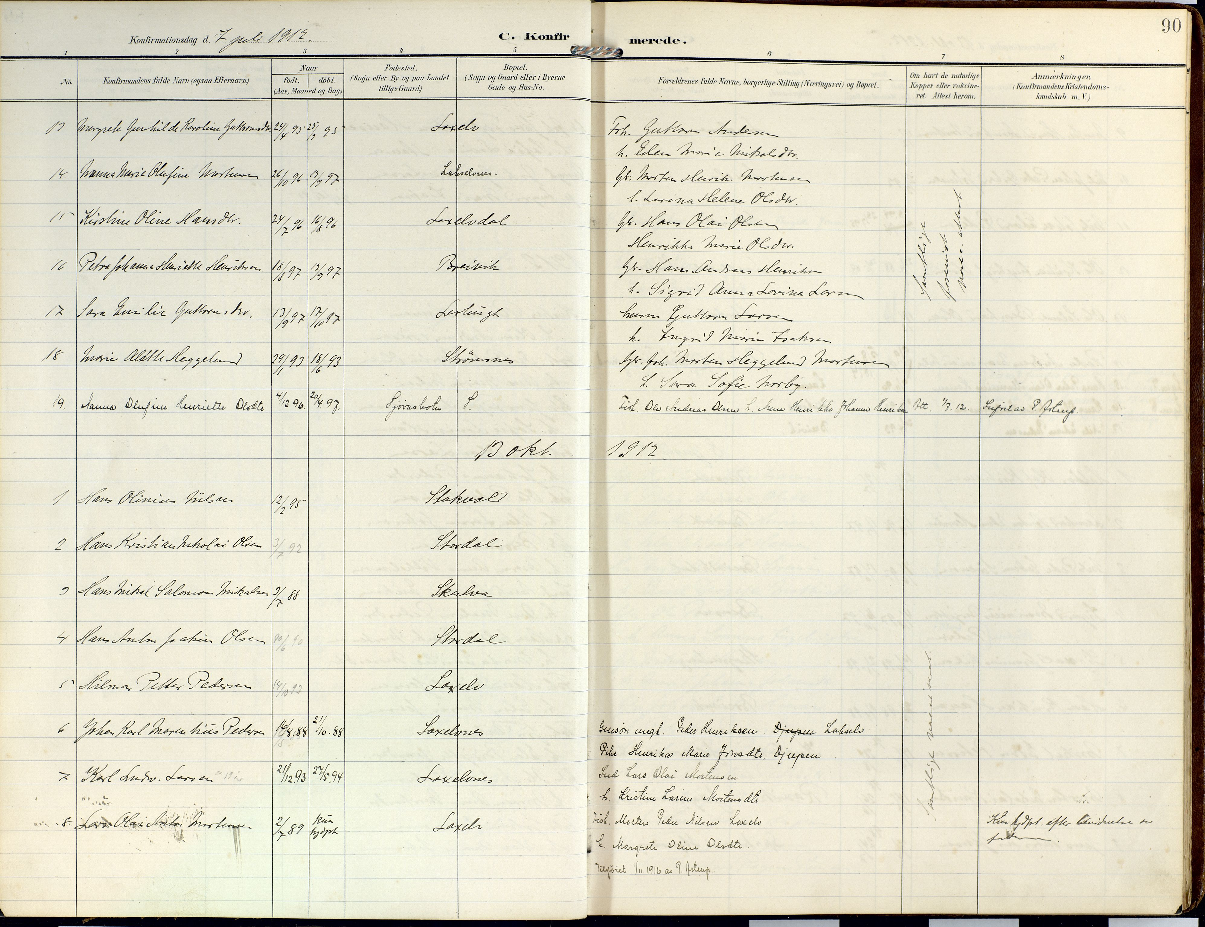 SATØ, Lyngen sokneprestembete, Ministerialbok nr. 14, 1905-1920, s. 90