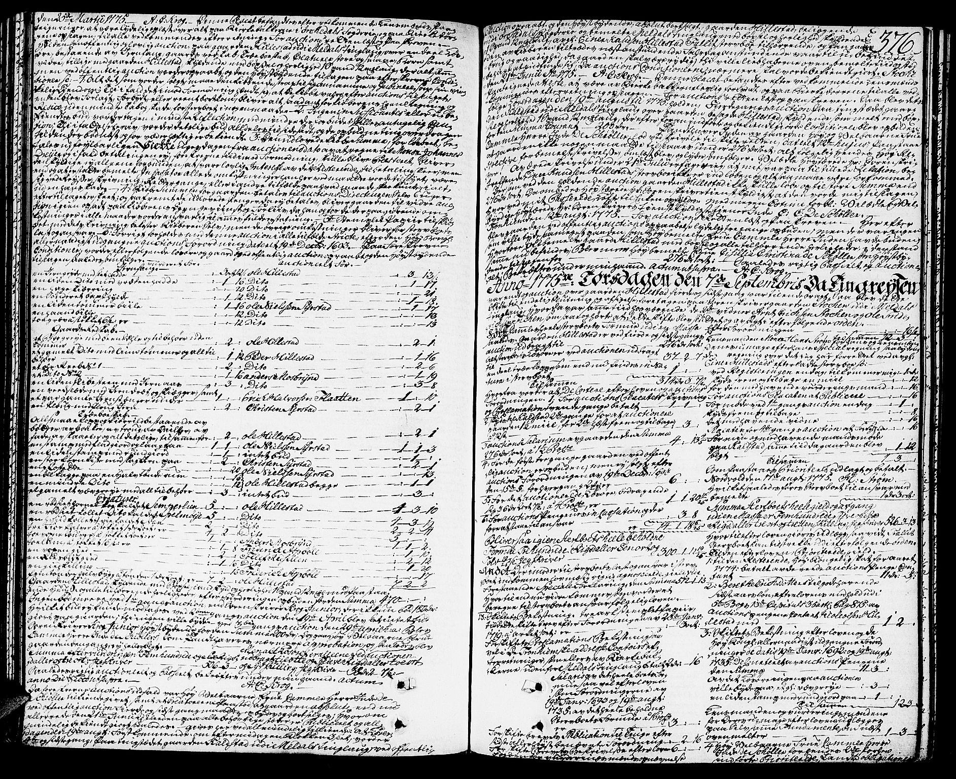 SAT, Orkdal sorenskriveri, 3/3Aa/L0007: Skifteprotokoller, 1767-1782, s. 375b-376a