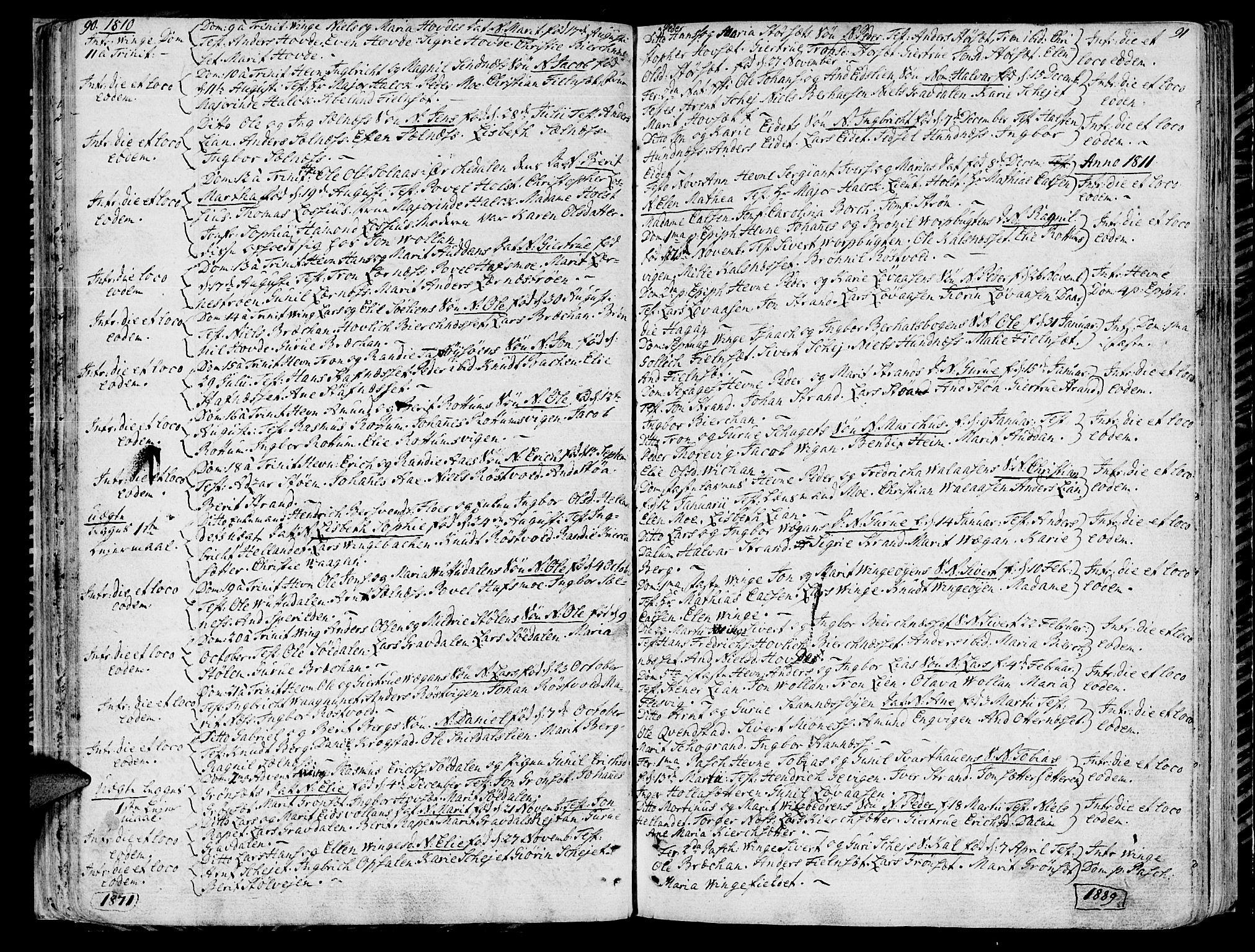 SAT, Ministerialprotokoller, klokkerbøker og fødselsregistre - Sør-Trøndelag, 630/L0490: Ministerialbok nr. 630A03, 1795-1818, s. 90-91
