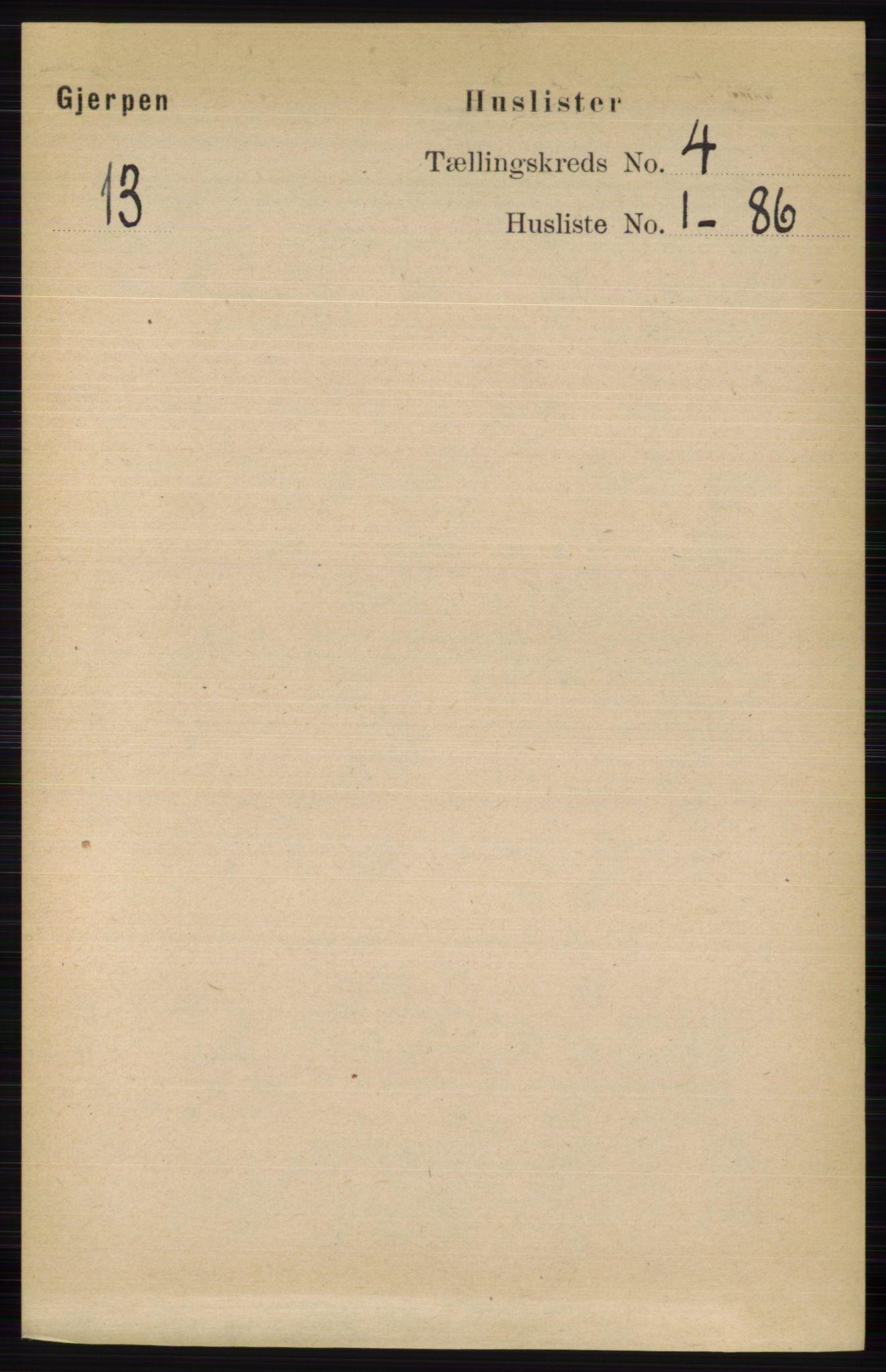 RA, Folketelling 1891 for 0812 Gjerpen herred, 1891, s. 1861