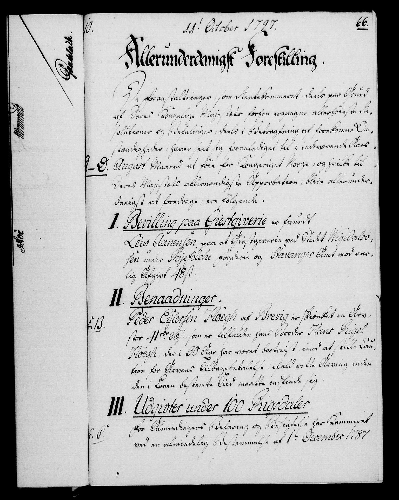 RA, Rentekammeret, Kammerkanselliet, G/Gf/Gfa/L0079: Norsk relasjons- og resolusjonsprotokoll (merket RK 52.79), 1797, s. 417