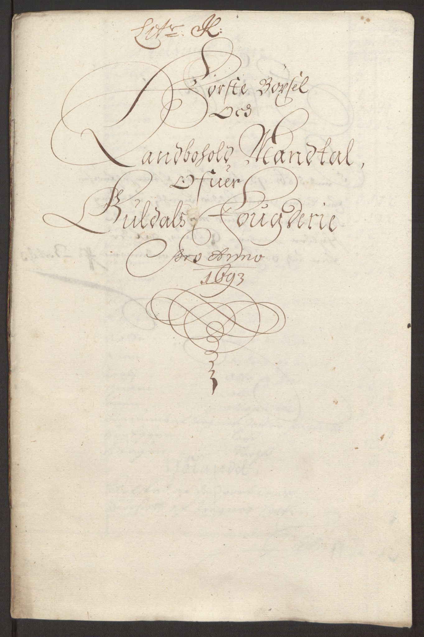 RA, Rentekammeret inntil 1814, Reviderte regnskaper, Fogderegnskap, R59/L3943: Fogderegnskap Gauldal, 1693, s. 135